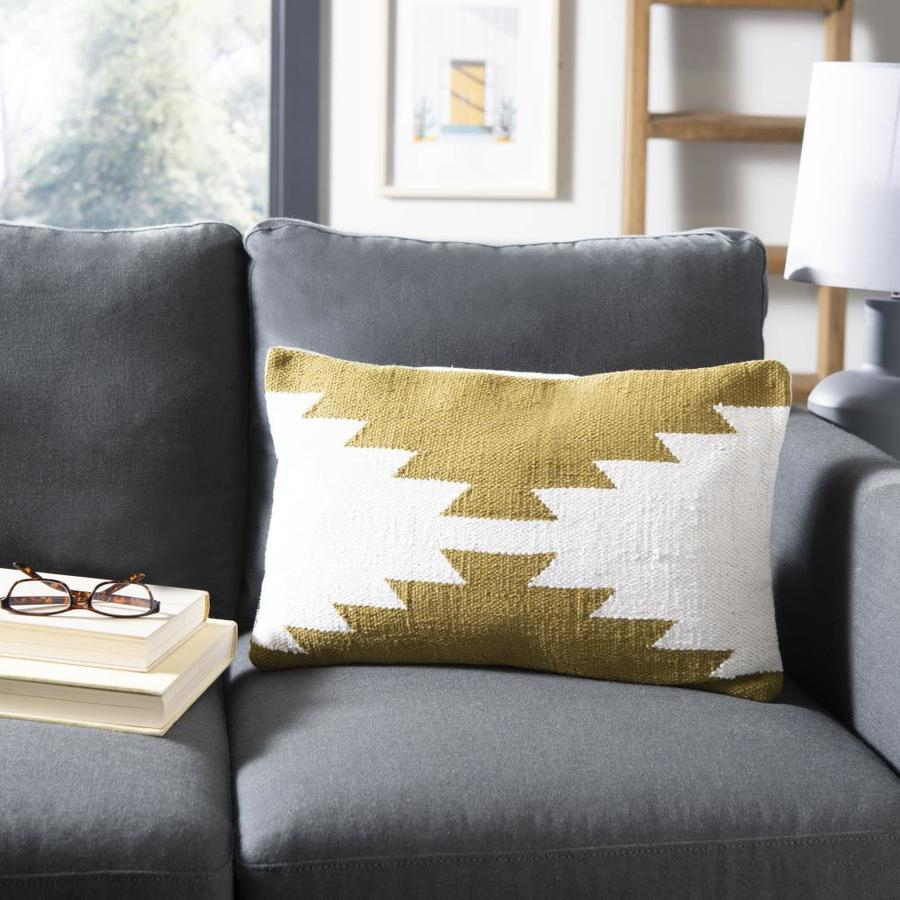 Safavieh Haleigh 12 In W X 20 In L Indoor Decorative Pillow For Haleigh Armchairs (View 12 of 15)