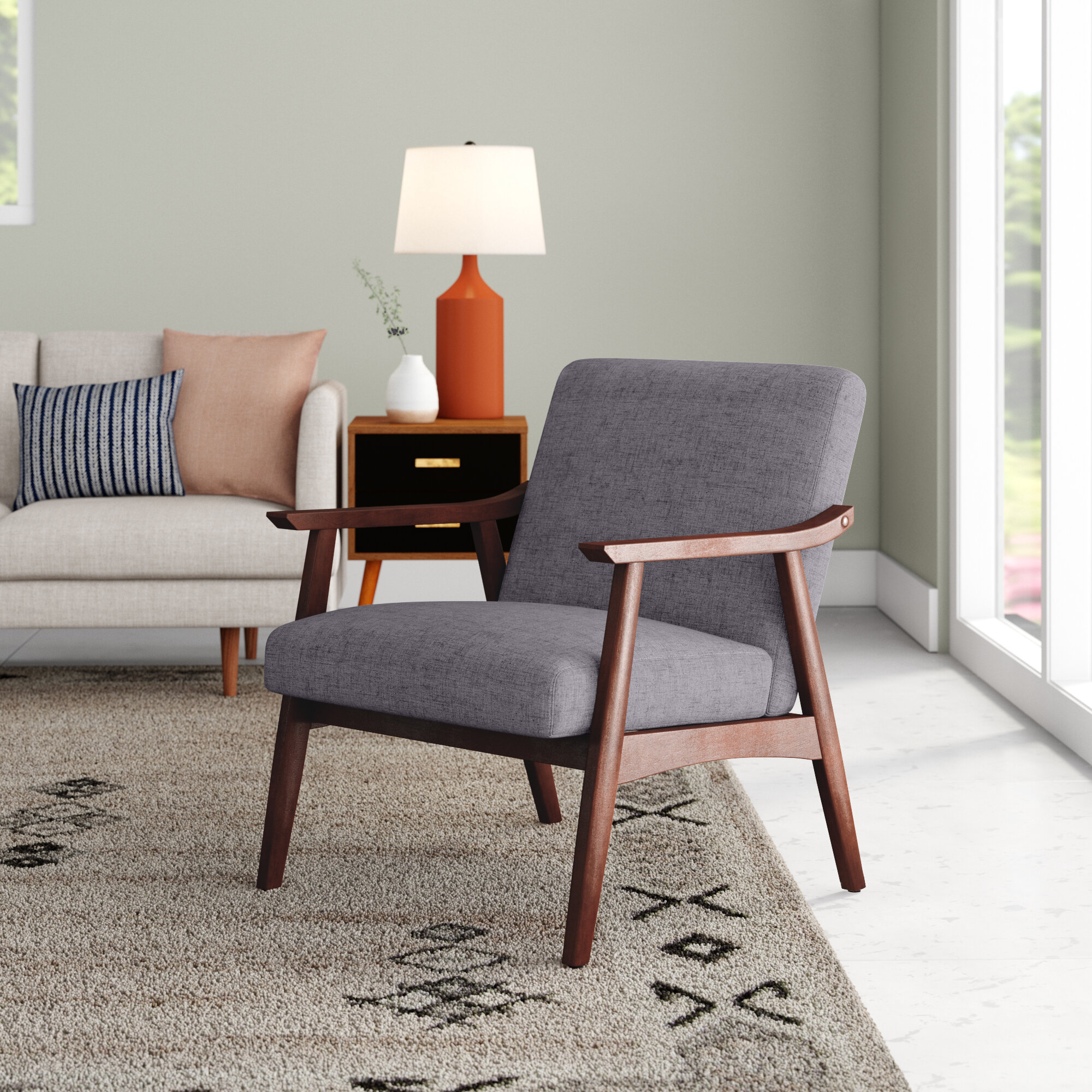 Scandinavian Accent Chairs You'Ll Love In 2021 | Wayfair In Nadene Armchairs (View 5 of 15)