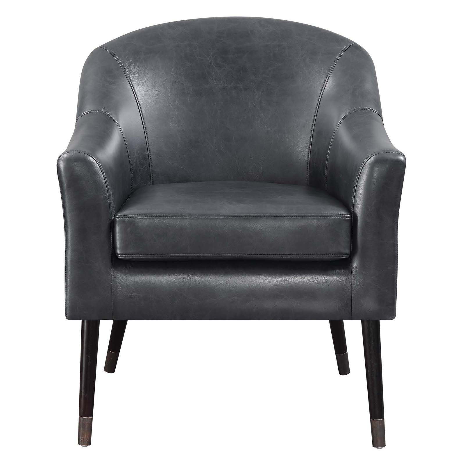 Scott Living Faux Leather Accent Chair | From Hayneedle Within Jill Faux Leather Armchairs (View 15 of 15)