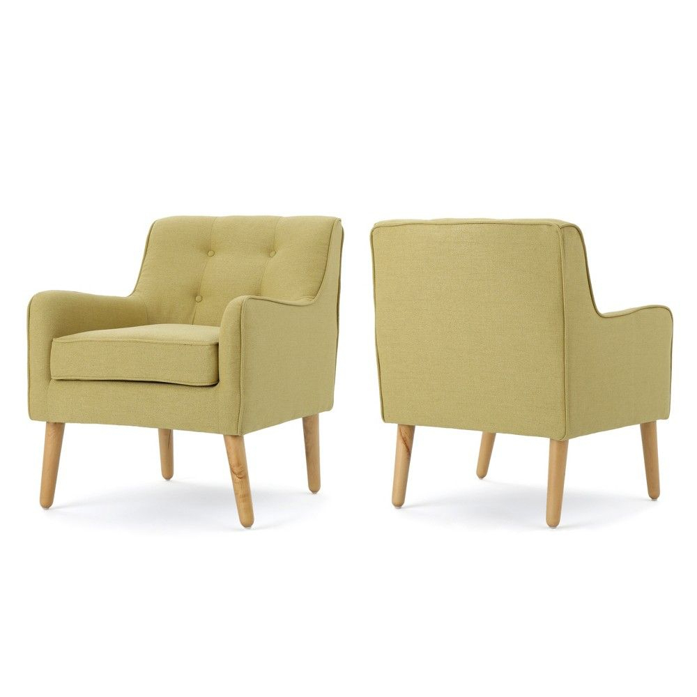 Set Of 2 Felicity Mid Century Arm Chair Wasabi – Christopher In Boyden Armchairs (View 5 of 15)