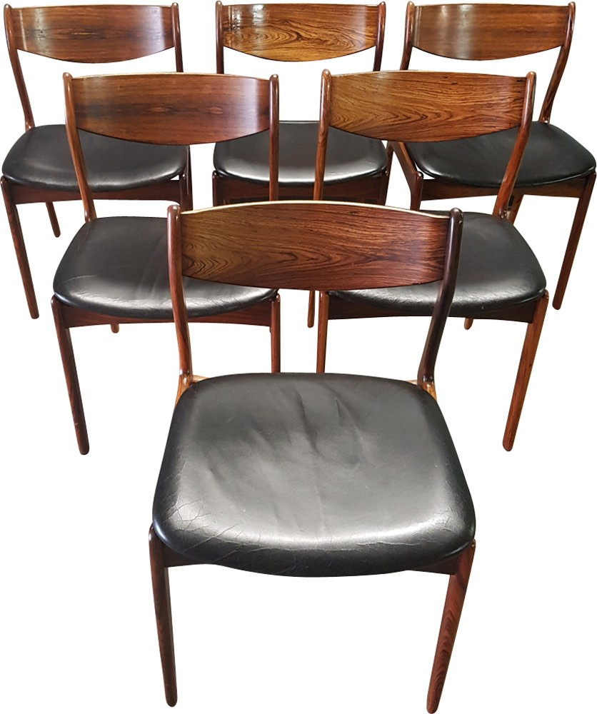 Set Of 6 Black Chairsp (View 12 of 15)
