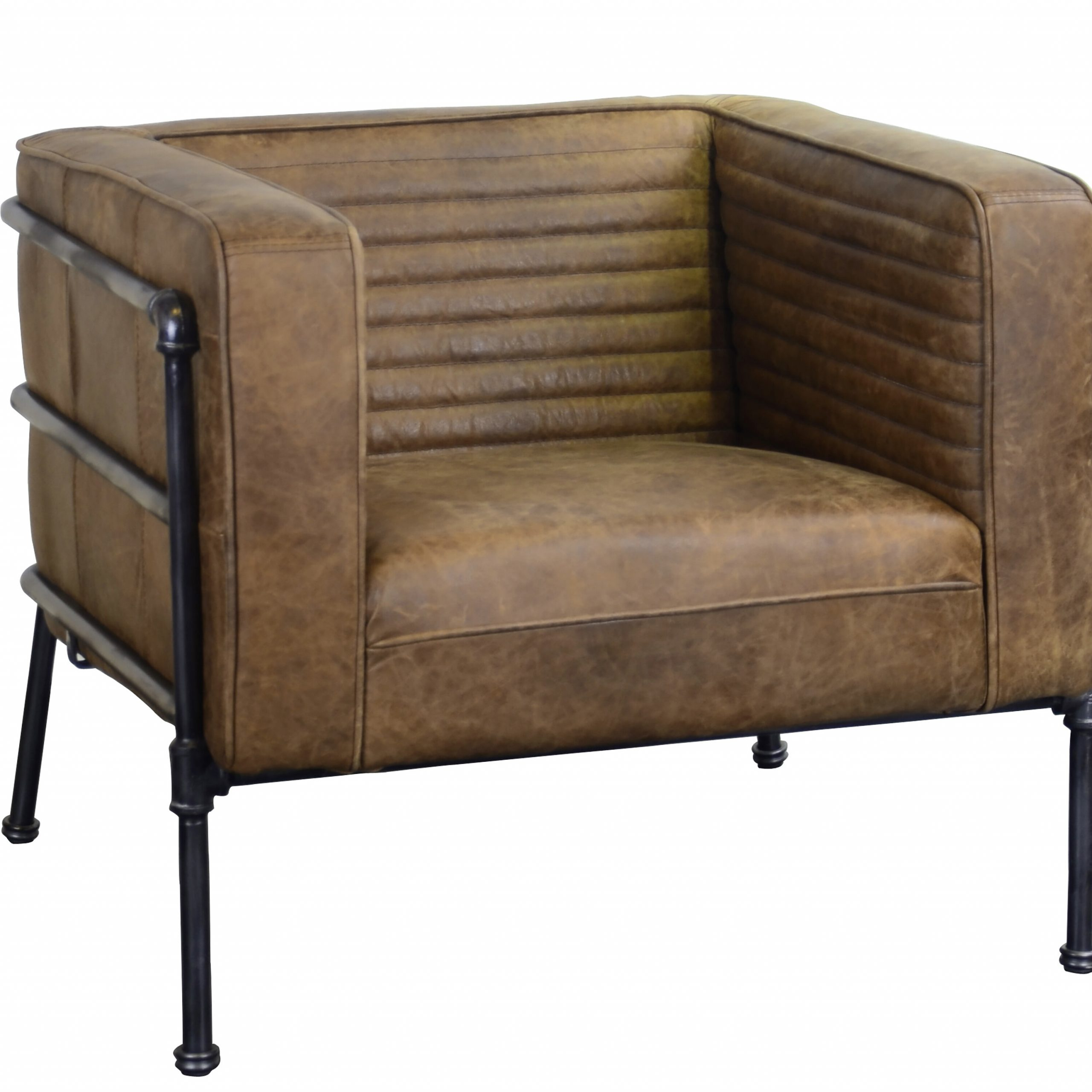 "Shearer 31"" W Tufted Top Grain Leather Club Chair In Sheldon Tufted Top Grain Leather Club Chairs (View 2 of 15)"