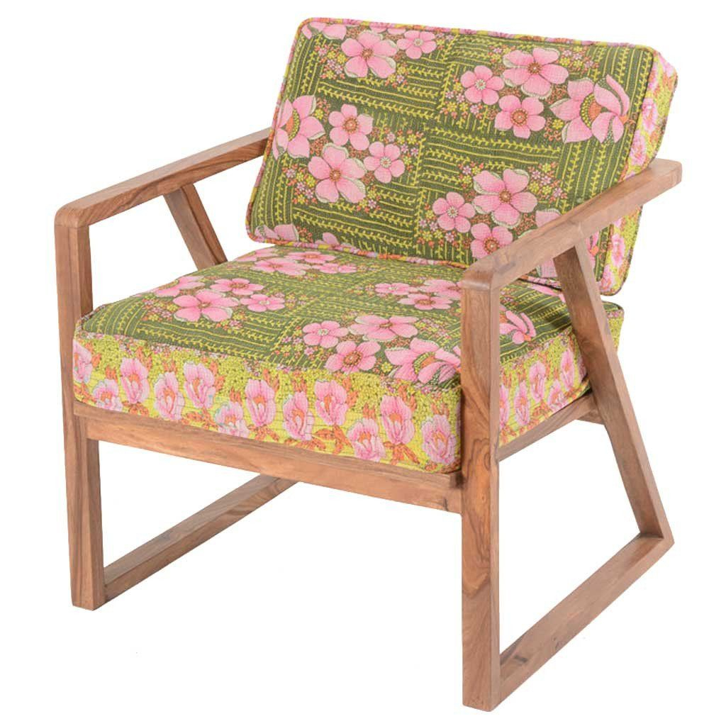 Sheesham And Kantha Dara Armchair | 50S Chairs, Kantha Throughout Dara Armchairs (View 9 of 15)