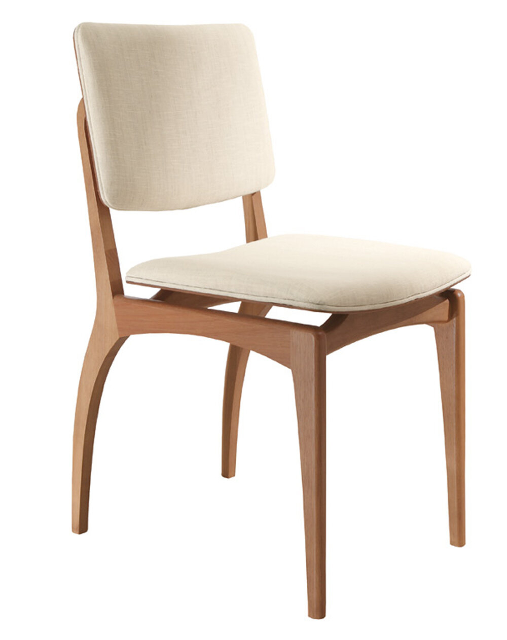 Side Chair In Beige Within Chiles Linen Side Chairs (View 9 of 15)
