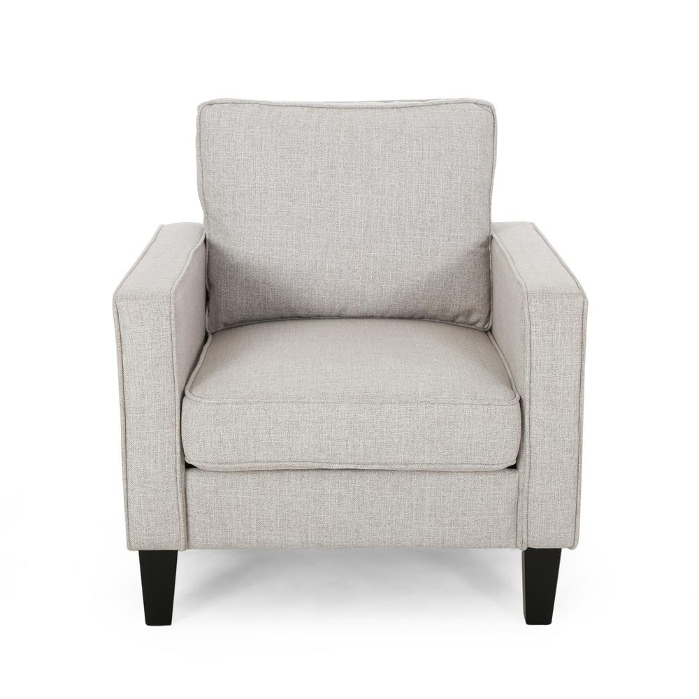 Sienna Beige Fabric Upholstered Club Chair Intended For Saige Wingback Chairs (View 13 of 15)