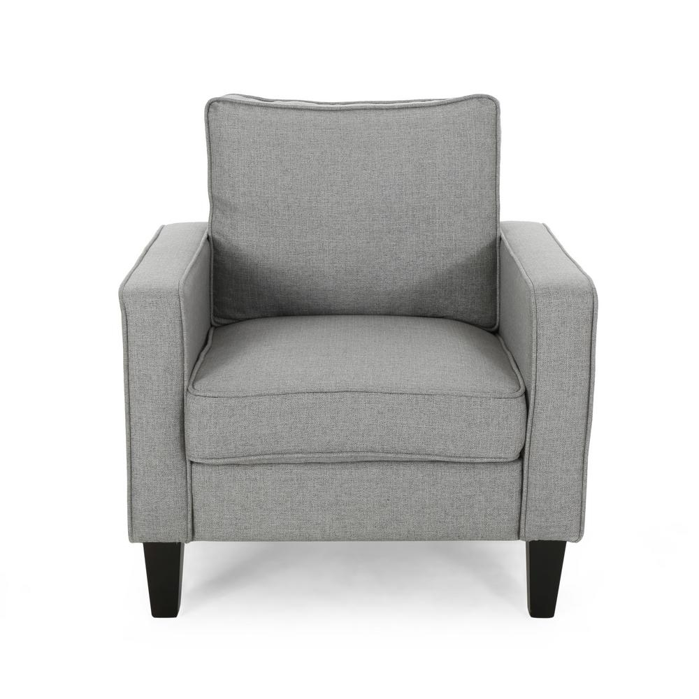 Sienna Beige Fabric Upholstered Club Chair Pertaining To Saige Wingback Chairs (View 14 of 15)