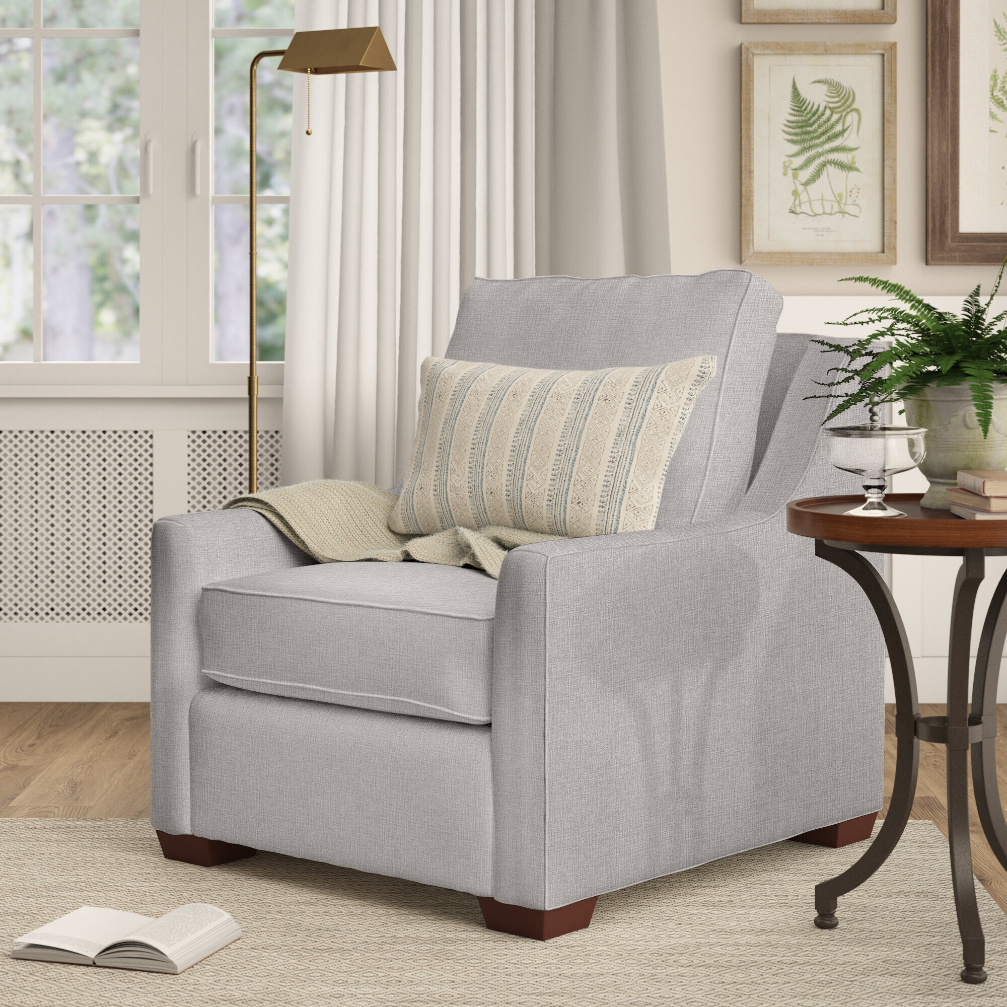 Silver Birch Lane™ Accent Chairs You'Ll Love In 2021 | Wayfair Pertaining To Young Armchairs By Birch Lane (View 11 of 15)