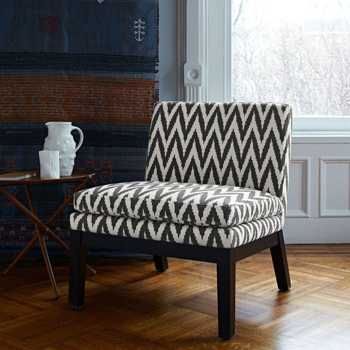 Slipper Chair – Prints | Affordable Contemporary Furniture Throughout Wadhurst Slipper Chairs (View 3 of 15)