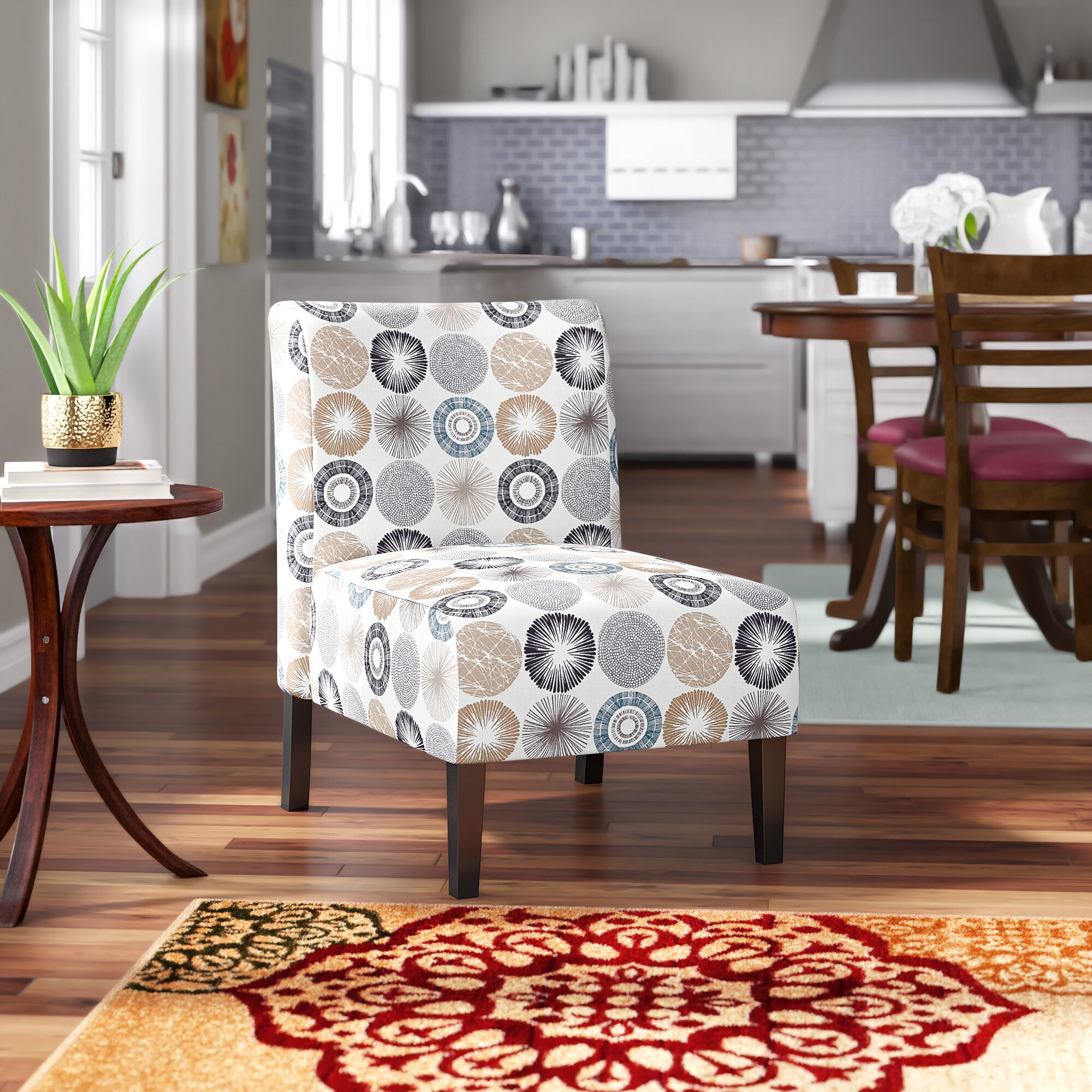 Slipper Chairs | Wayfair Pertaining To Gozzoli Slipper Chairs (View 9 of 15)