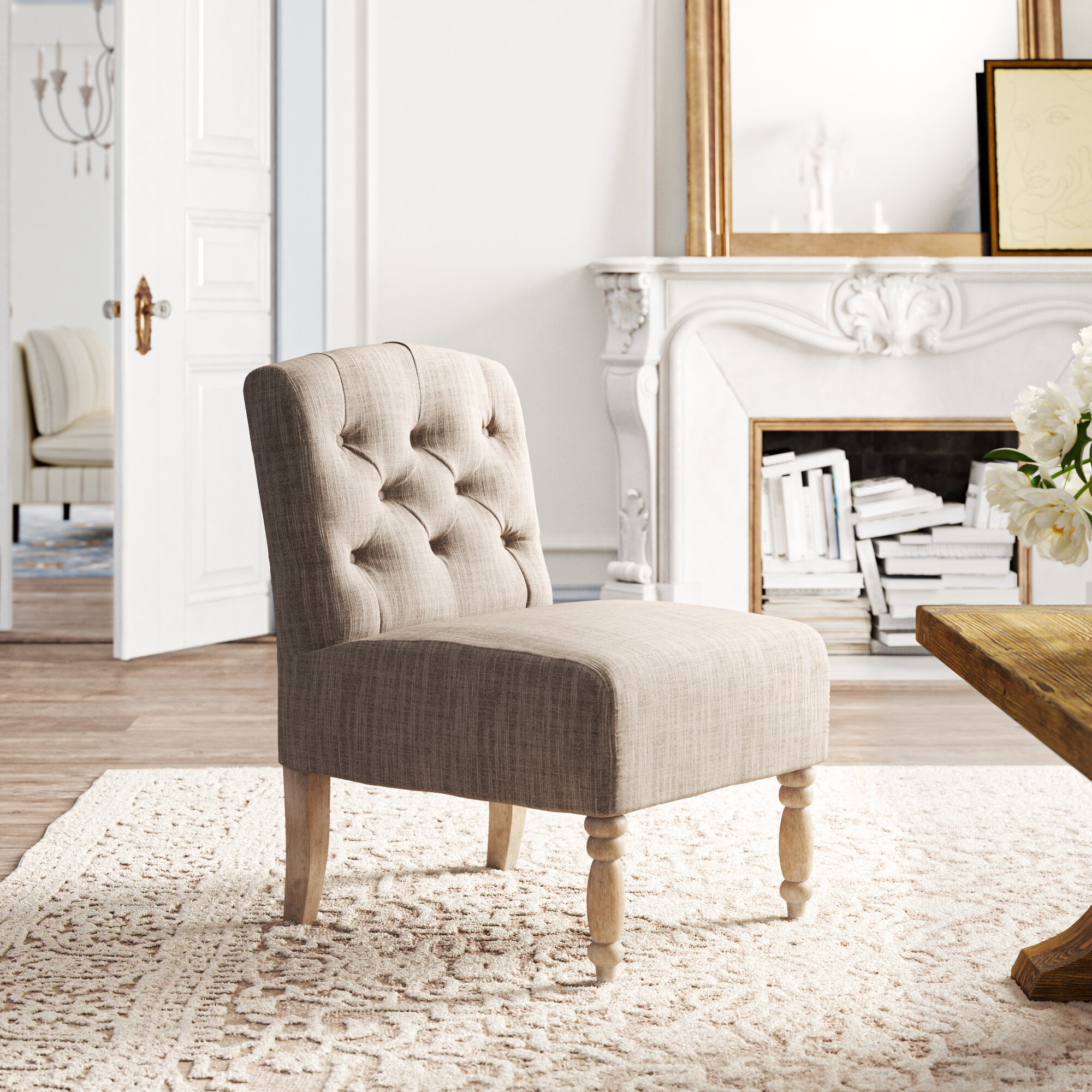 Slipper Chairs | Wayfair Throughout Gozzoli Slipper Chairs (View 5 of 15)