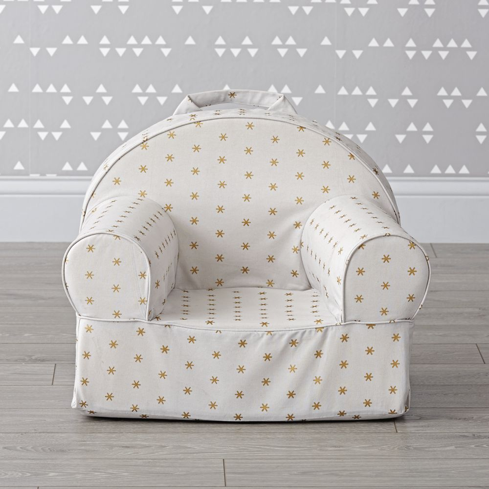 Small Gold Sparkle Nod Chair – Crate And Barrel In Aniruddha Slipper Chairs (View 10 of 15)