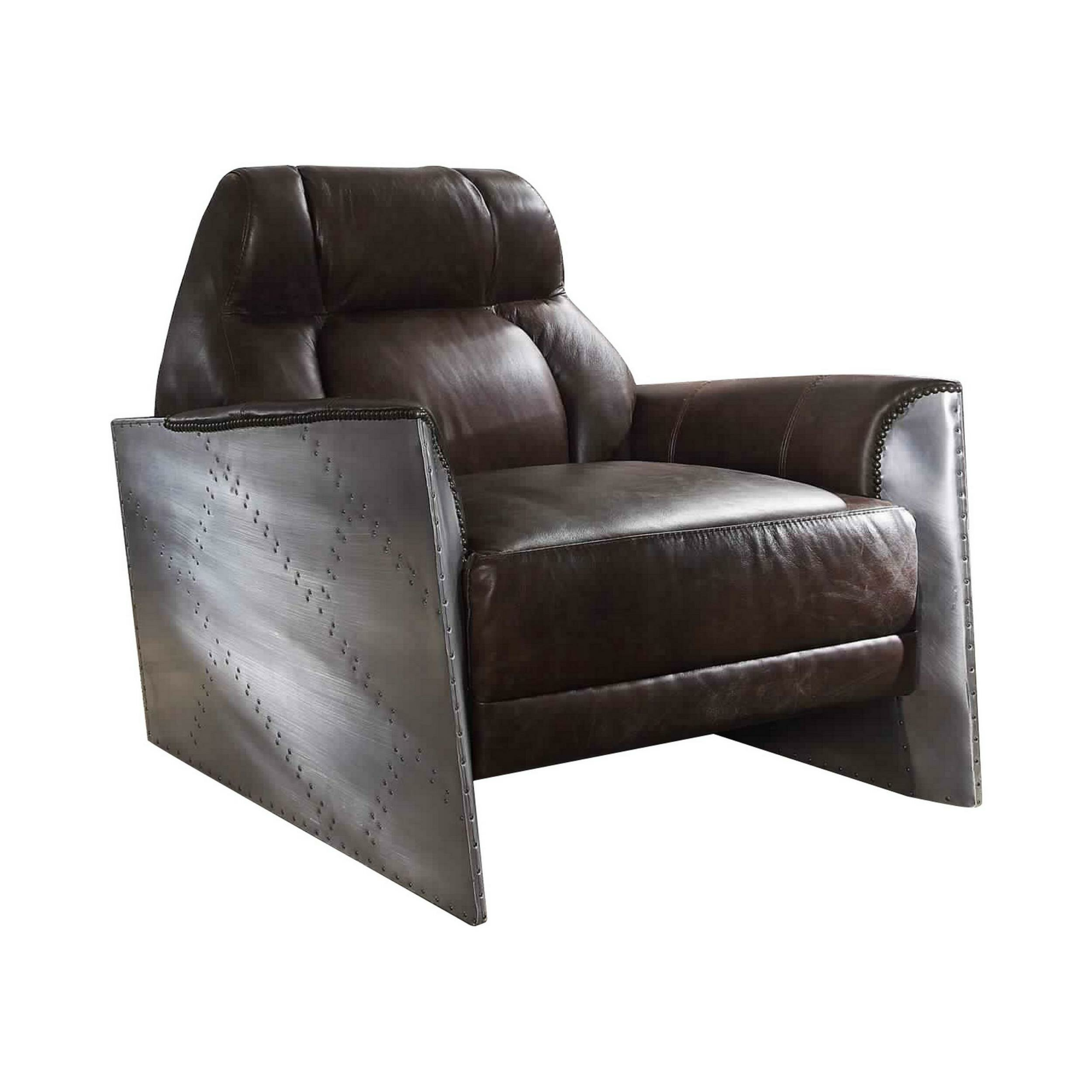 "Smotherman 37"" W Faux Leather Armchair Within Jarin Faux Leather Armchairs (View 11 of 15)"