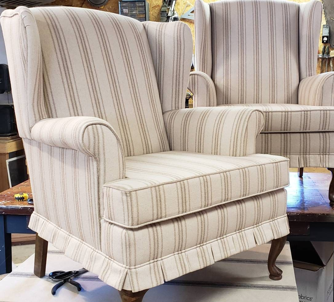 Sold Custom Recreate Pair Of French Country Farmhouse For Altamahaw Swoop Side Chairs (View 6 of 15)