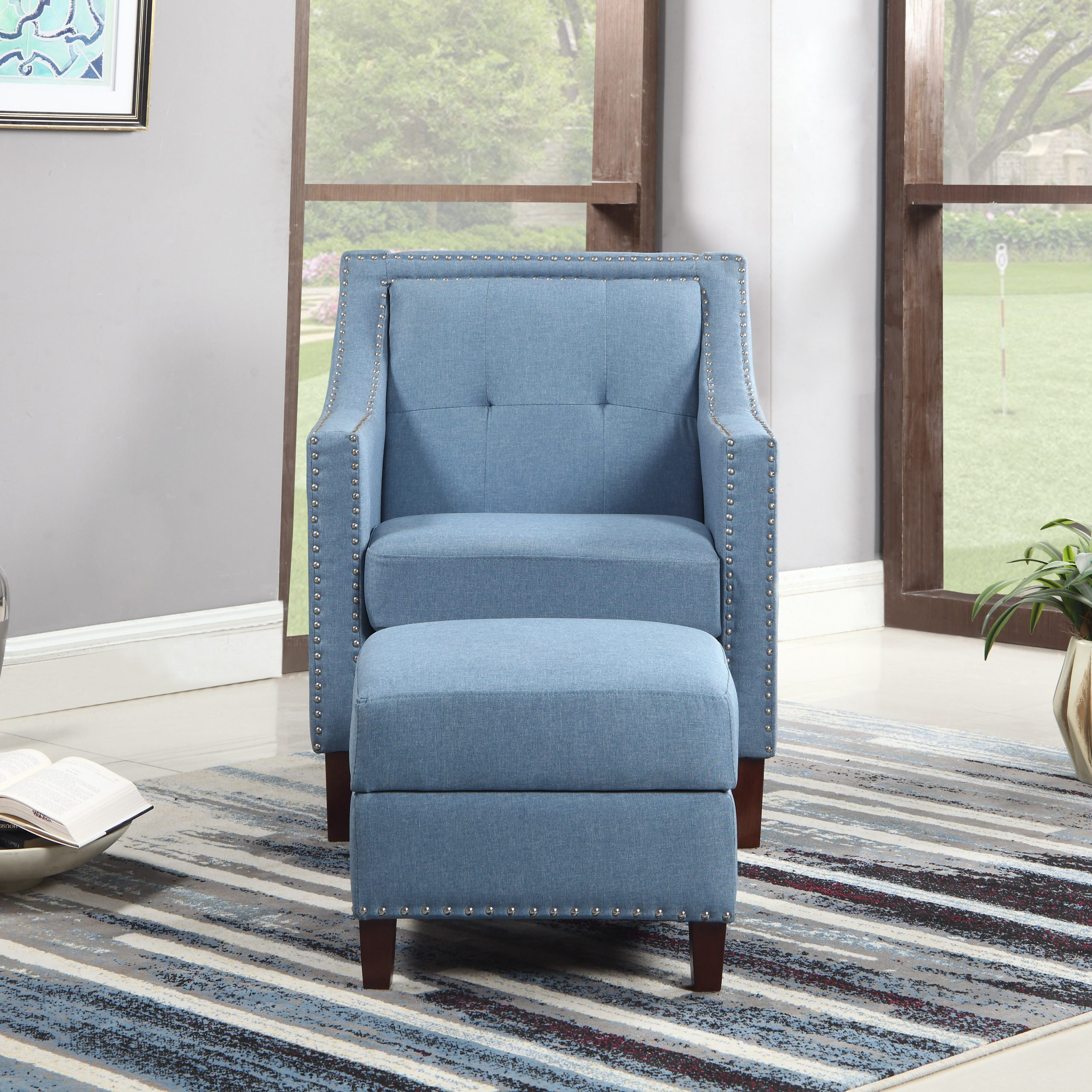 Sonya Armchair Ottoman In Dara Armchairs (View 10 of 15)