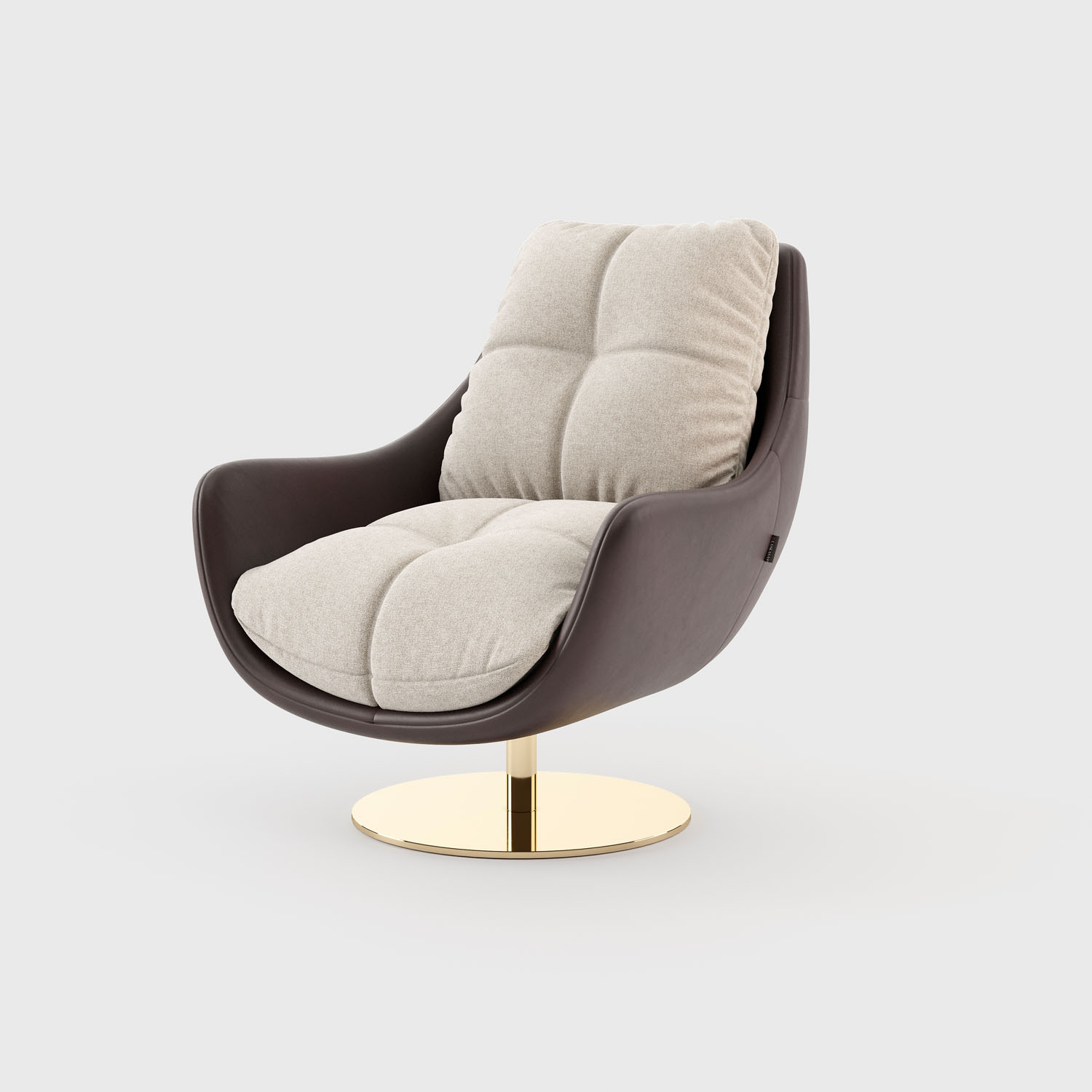 Sophia Armchair With Ottoman | Laskasas Within Modern Armchairs And Ottoman (View 12 of 15)