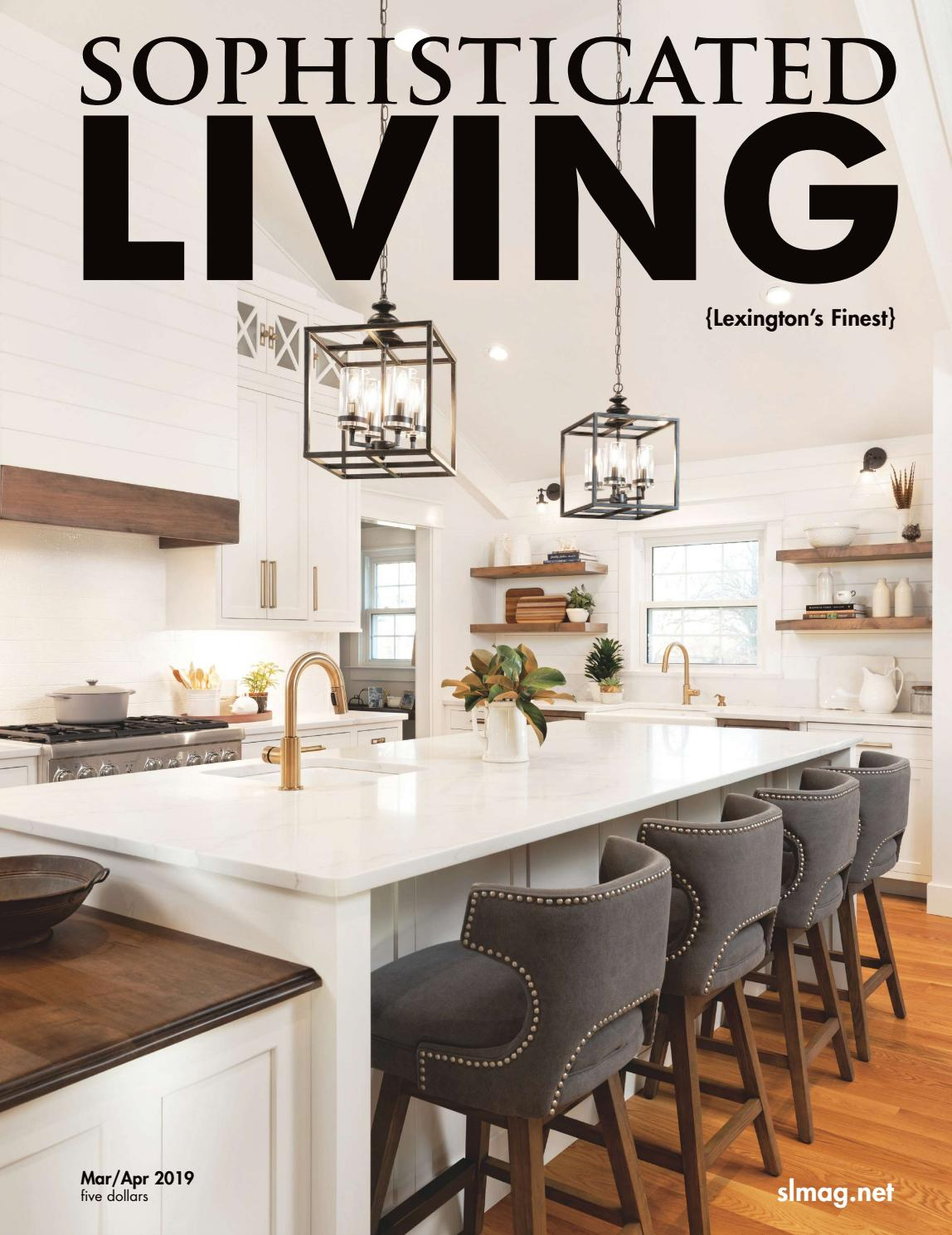 Sophisticated Living Lexington March/April 2019 Pertaining To Coomer Faux Leather Barrel Chairs (View 15 of 15)