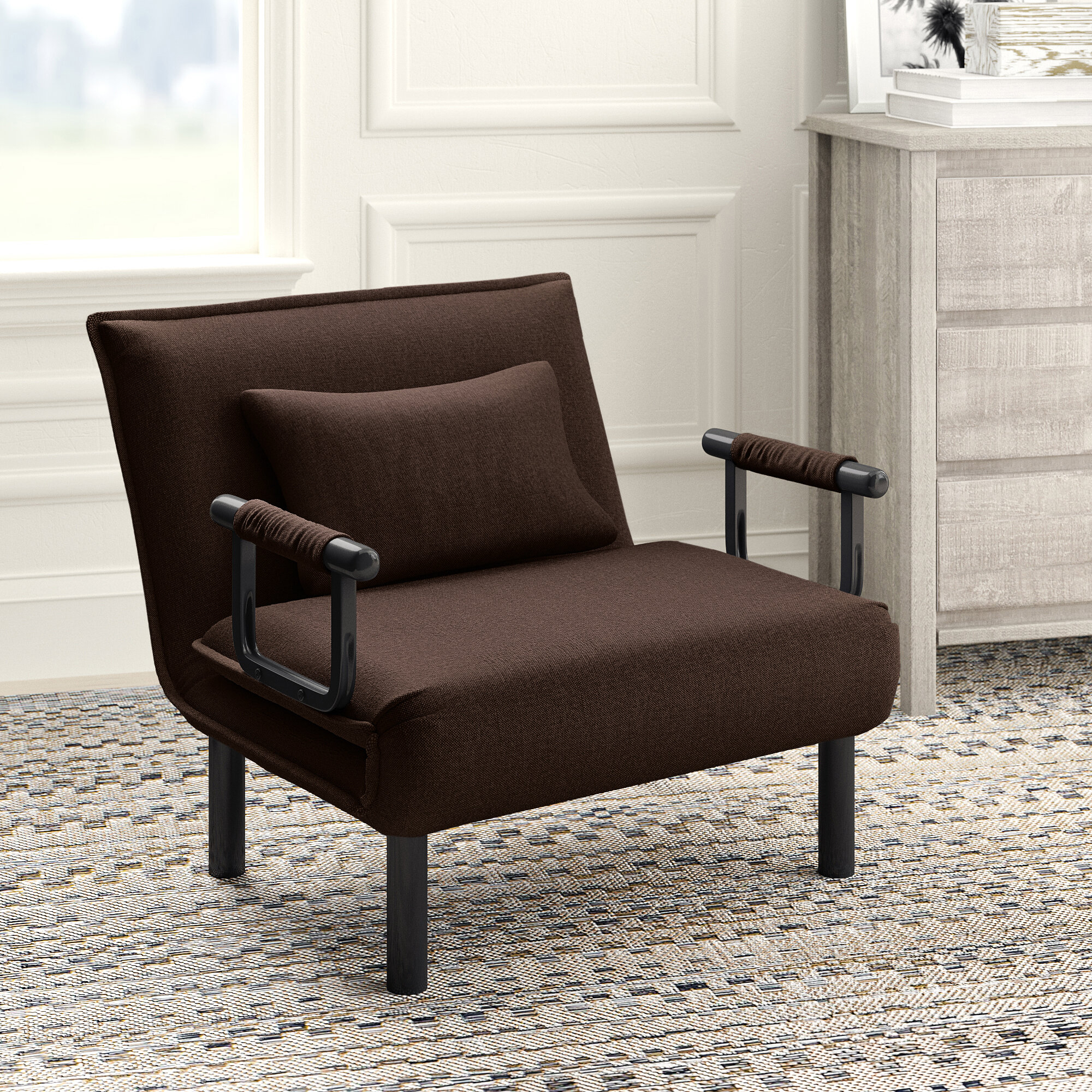 Springdale Convertible Chair For Perz Tufted Faux Leather Convertible Chairs (View 8 of 15)