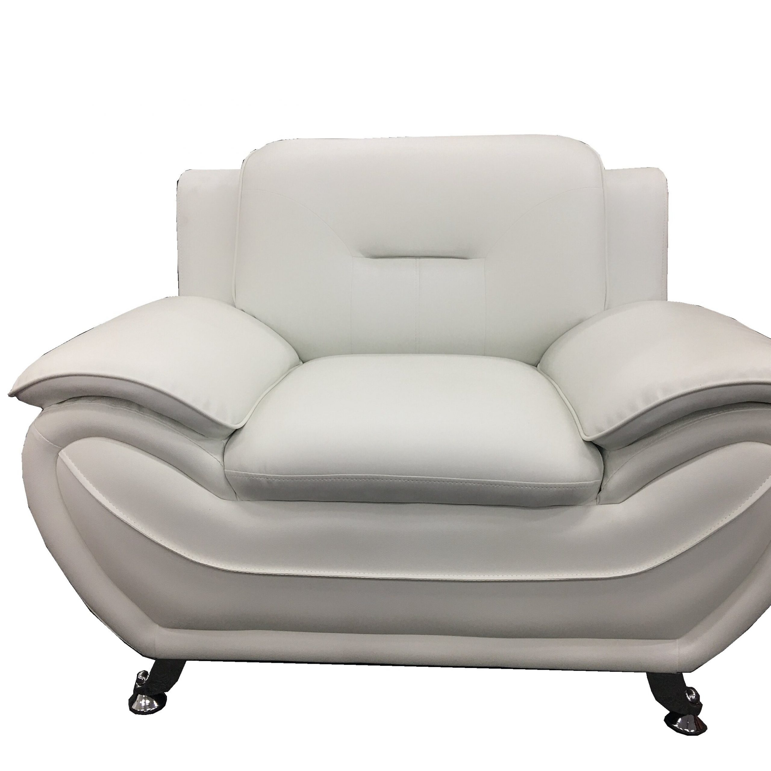 """Stclair 48"""" W Faux Leather Club Chair In Montenegro Faux Leather Club Chairs (View 4 of 15)"""