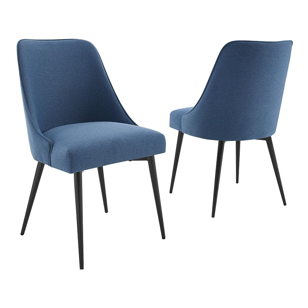 Steve Silver Colfax Blue Side Chair (Set Of 2) Cf450Sn – The Home Depot In Esmund Side Chairs (Set Of 2) (View 3 of 15)