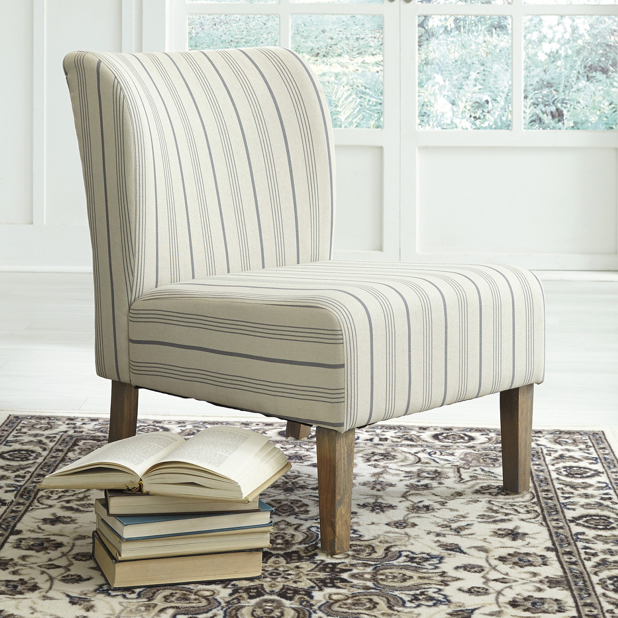 Striped Caldwell Accent Chair For Caldwell Armchairs (View 7 of 15)