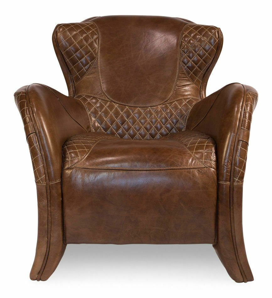 Stunning Equestrian Arm Chair Top Grain Vintage Quilted Throughout Jill Faux Leather Armchairs (View 9 of 15)