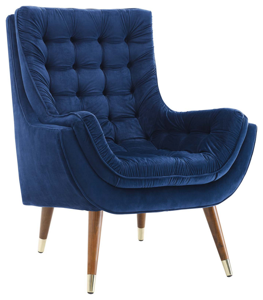 Suggest Button Tufted Velvet Lounge Chair Wl 03984 Mw Regarding Ronald Polyester Blend Armchairs (View 9 of 15)