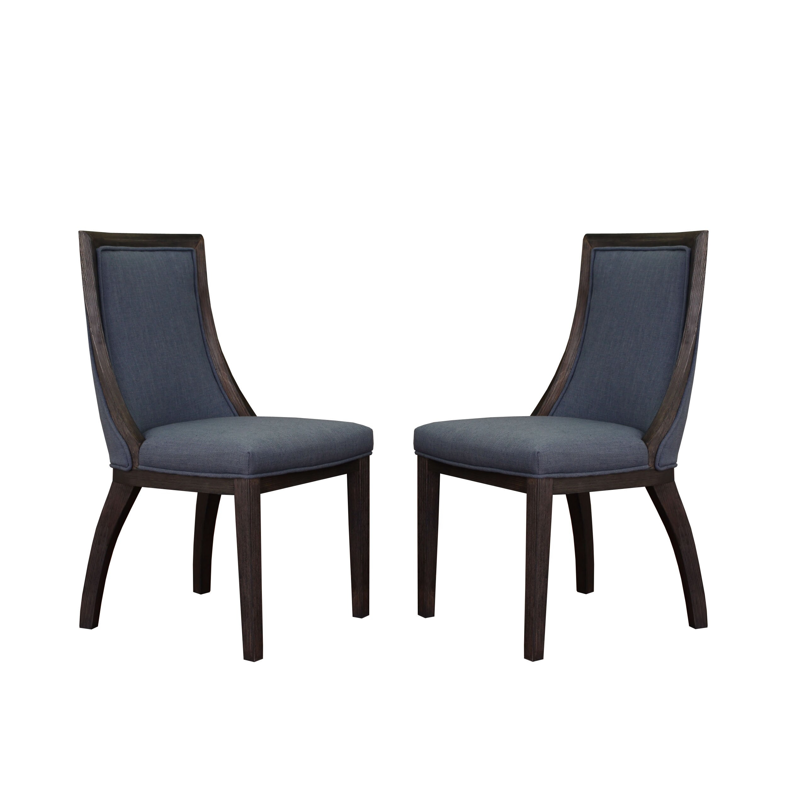 The Gray Barn Park Avenue Austria Navy Linen Dining Chair (Set Of 2) Within Madison Avenue Tufted Cotton Upholstered Dining Chairs (Set Of 2) (View 7 of 15)