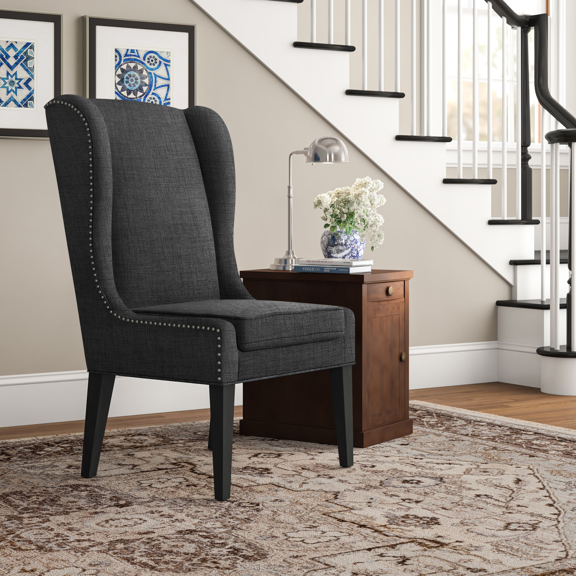 Three Posts™ Andover Wingback Chair & Reviews | Wayfair In Andover Wingback Chairs (View 3 of 15)