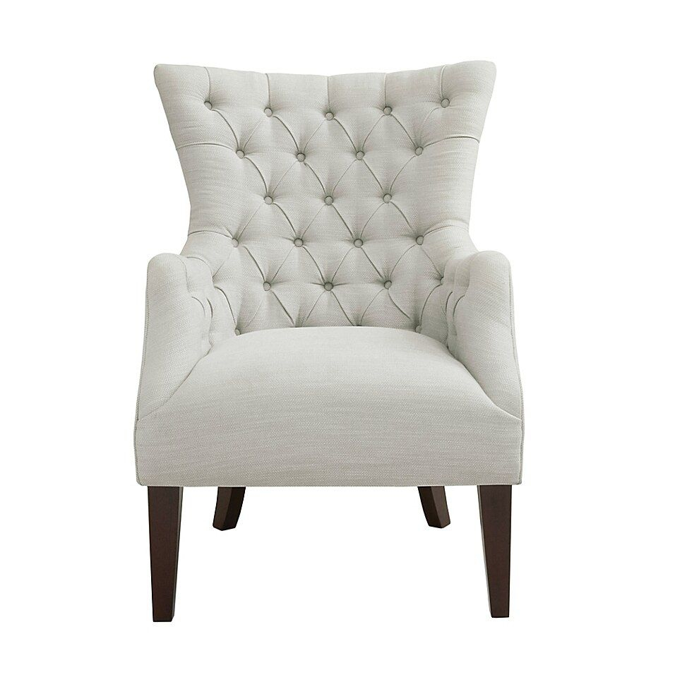 Tiffany Gray Tufted Armchair – Vozeli Intended For Lenaghan Wingback Chairs (View 11 of 15)