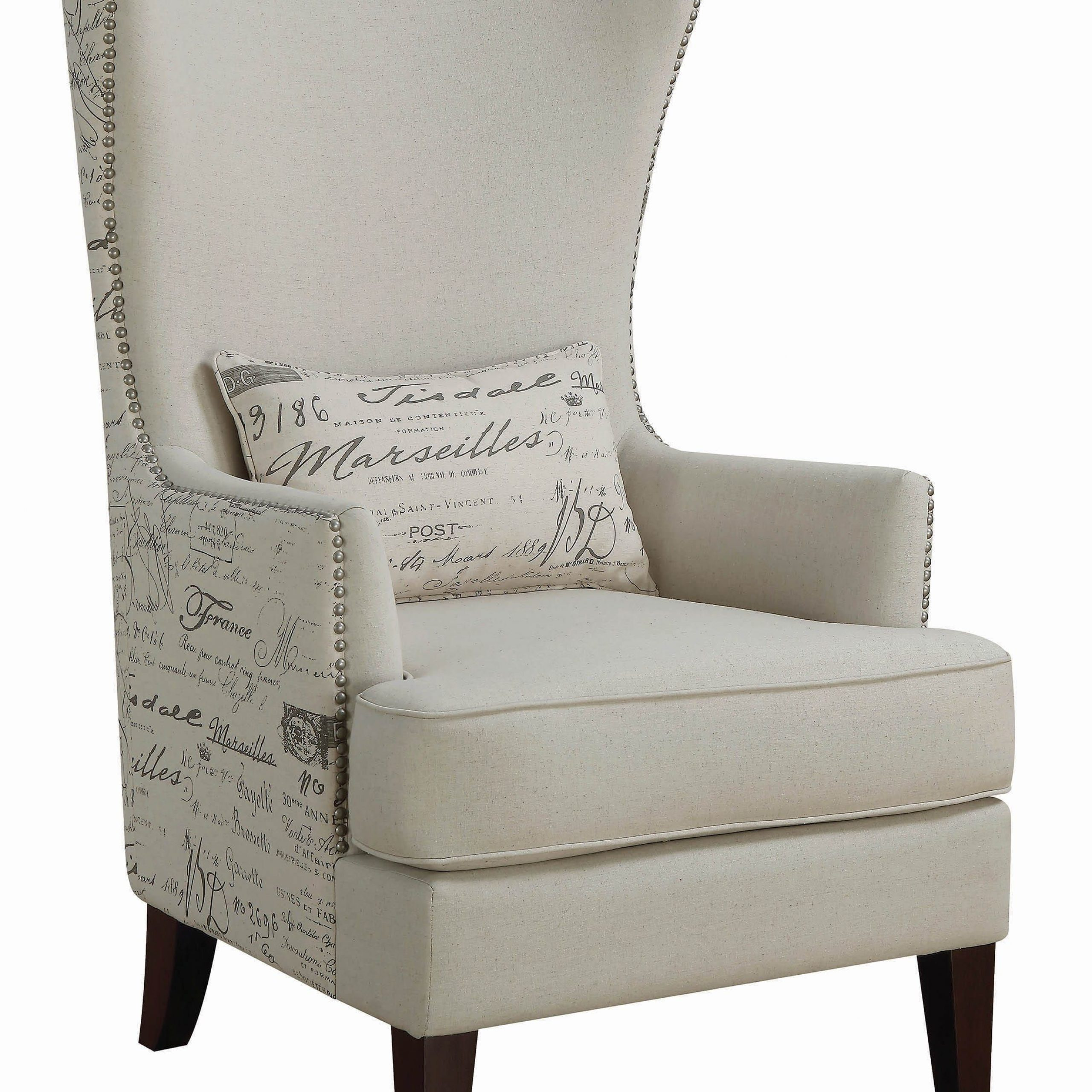 Traditional Cream Accent Chair – Coaster Fine Furniture With Regard To Andover Wingback Chairs (View 13 of 15)