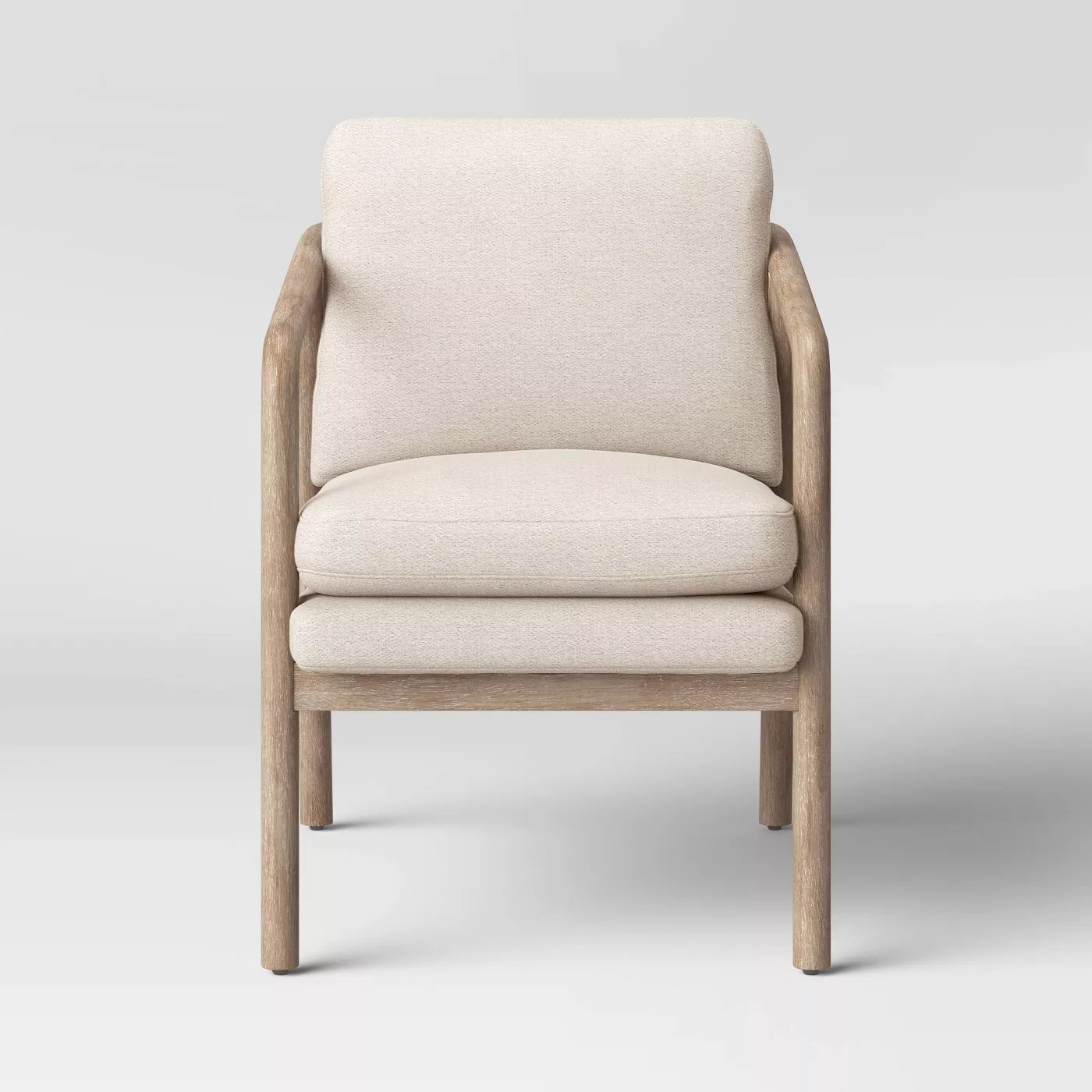 Tufeld Wood Arm Chair Gray – Project 62™ – Target Within Biggerstaff Polyester Blend Armchairs (View 10 of 15)