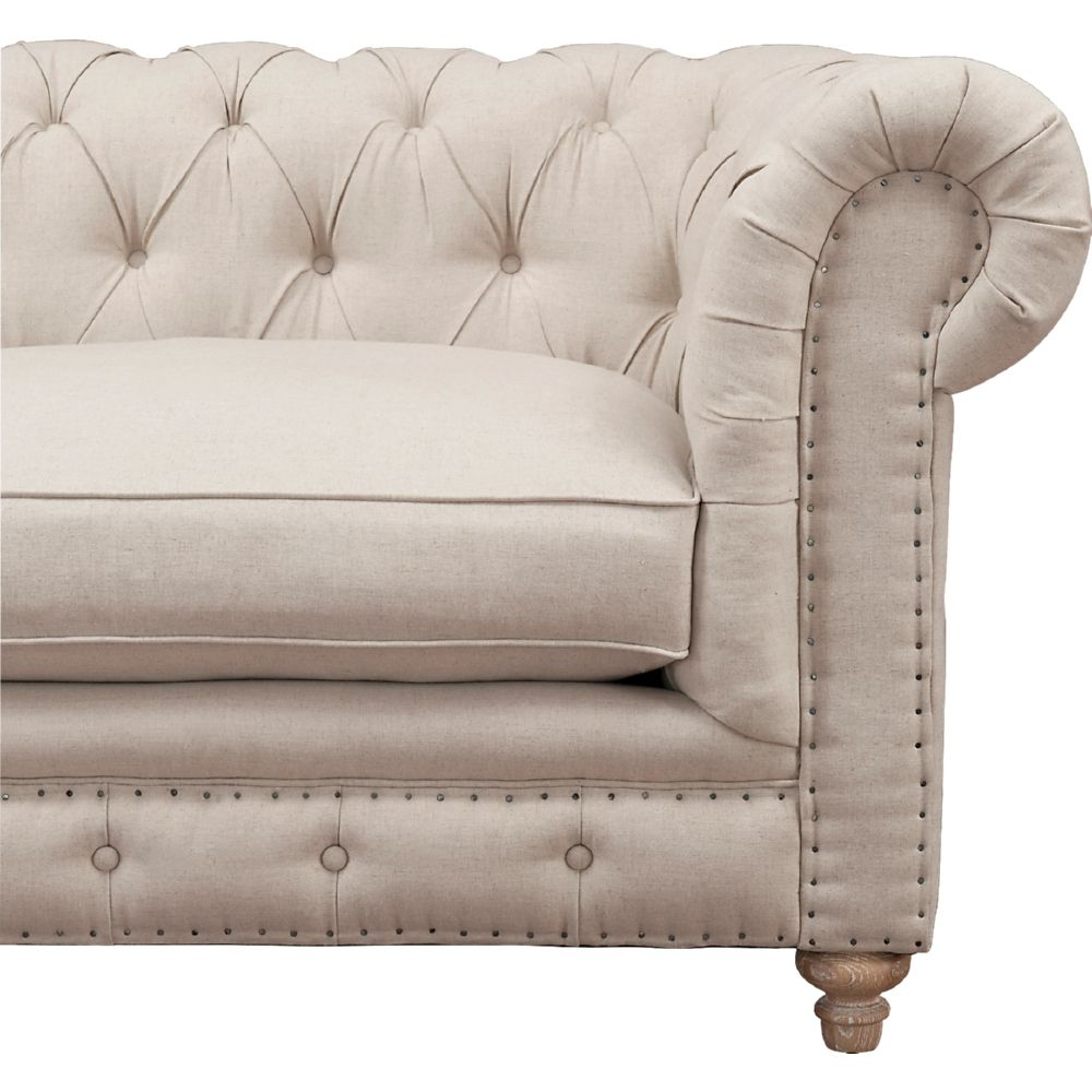 Tufted Back Sofa | Best Collections Of Sofas And Couches Within Kjellfrid Chesterfield Chairs (View 6 of 15)