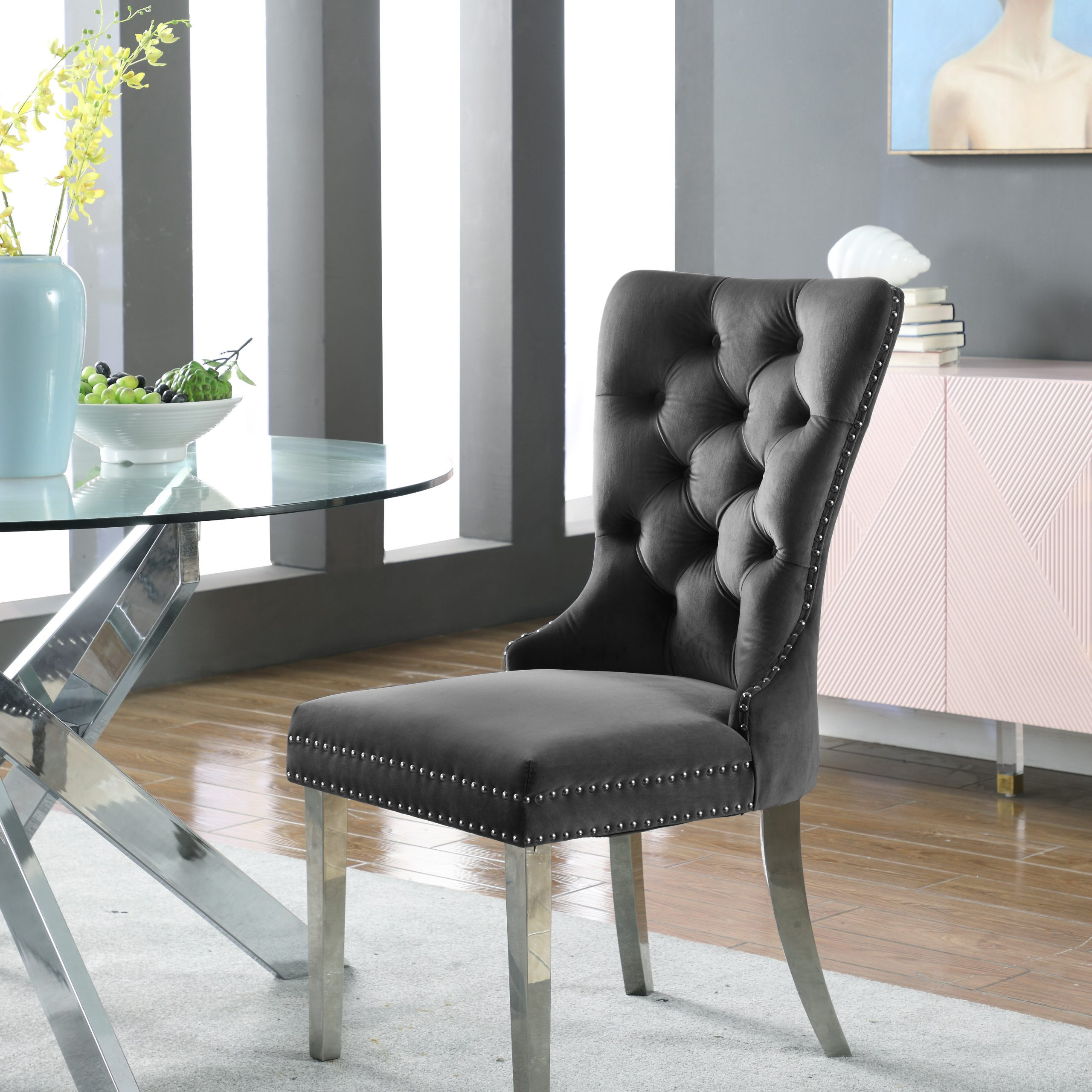 Tufted Dining Chairs | Wayfair With Regard To Madison Avenue Tufted Cotton Upholstered Dining Chairs (Set Of 2) (View 4 of 15)