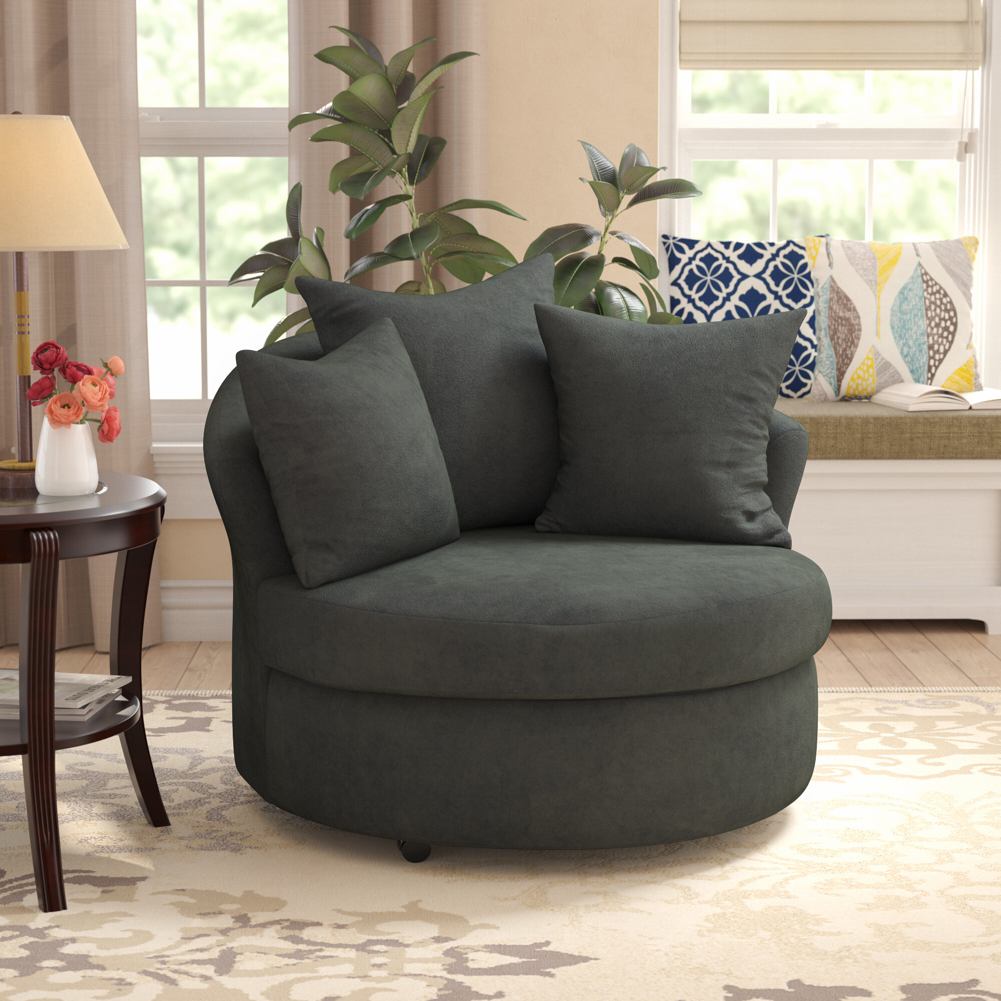 Varennes Barrel Chair With Regard To Molinari Swivel Barrel Chairs (View 9 of 15)
