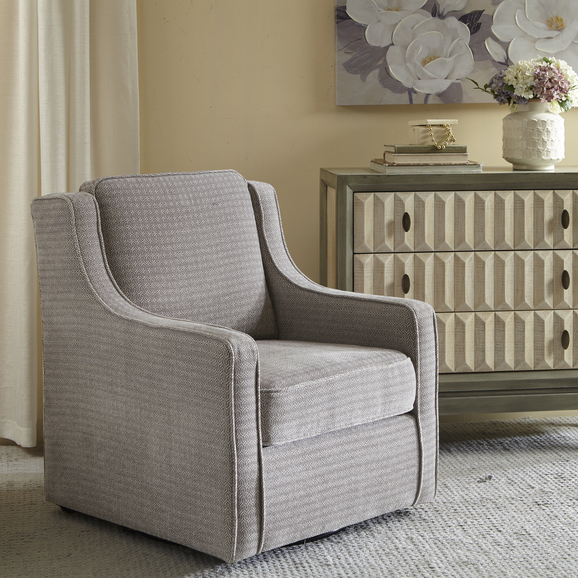 Featured Image of Vineland Polyester Swivel Armchairs