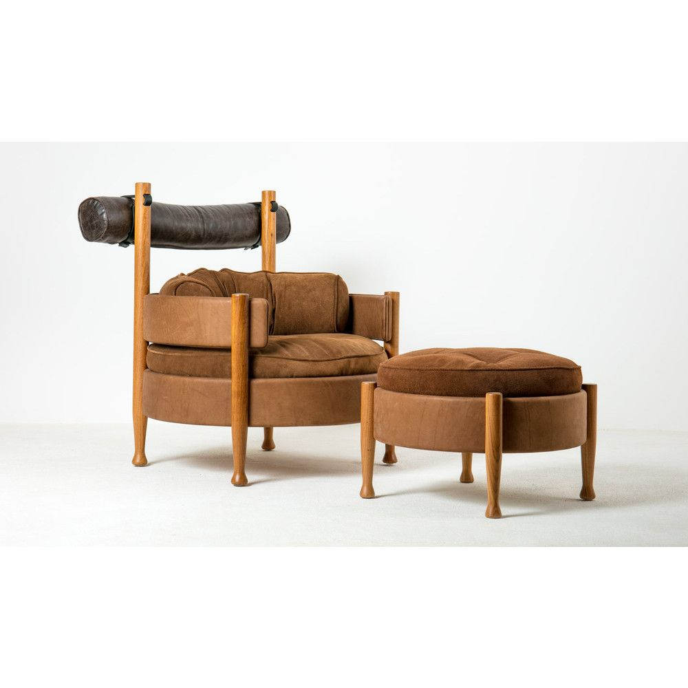 Vivi Lounge Armchair And Ottomansergio Rodrigues Regarding Modern Armchairs And Ottoman (View 10 of 15)