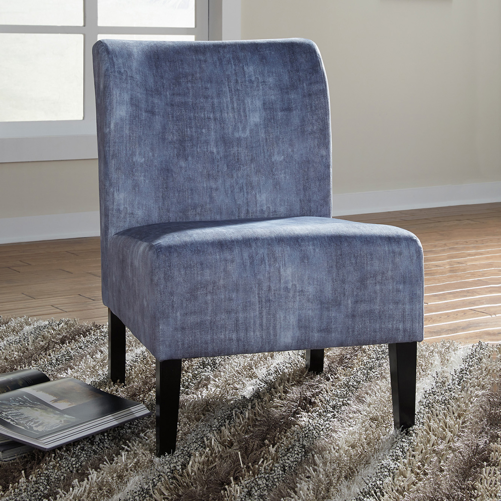 Washed Denim Caldwell Accent Chair Within Caldwell Armchairs (View 5 of 15)