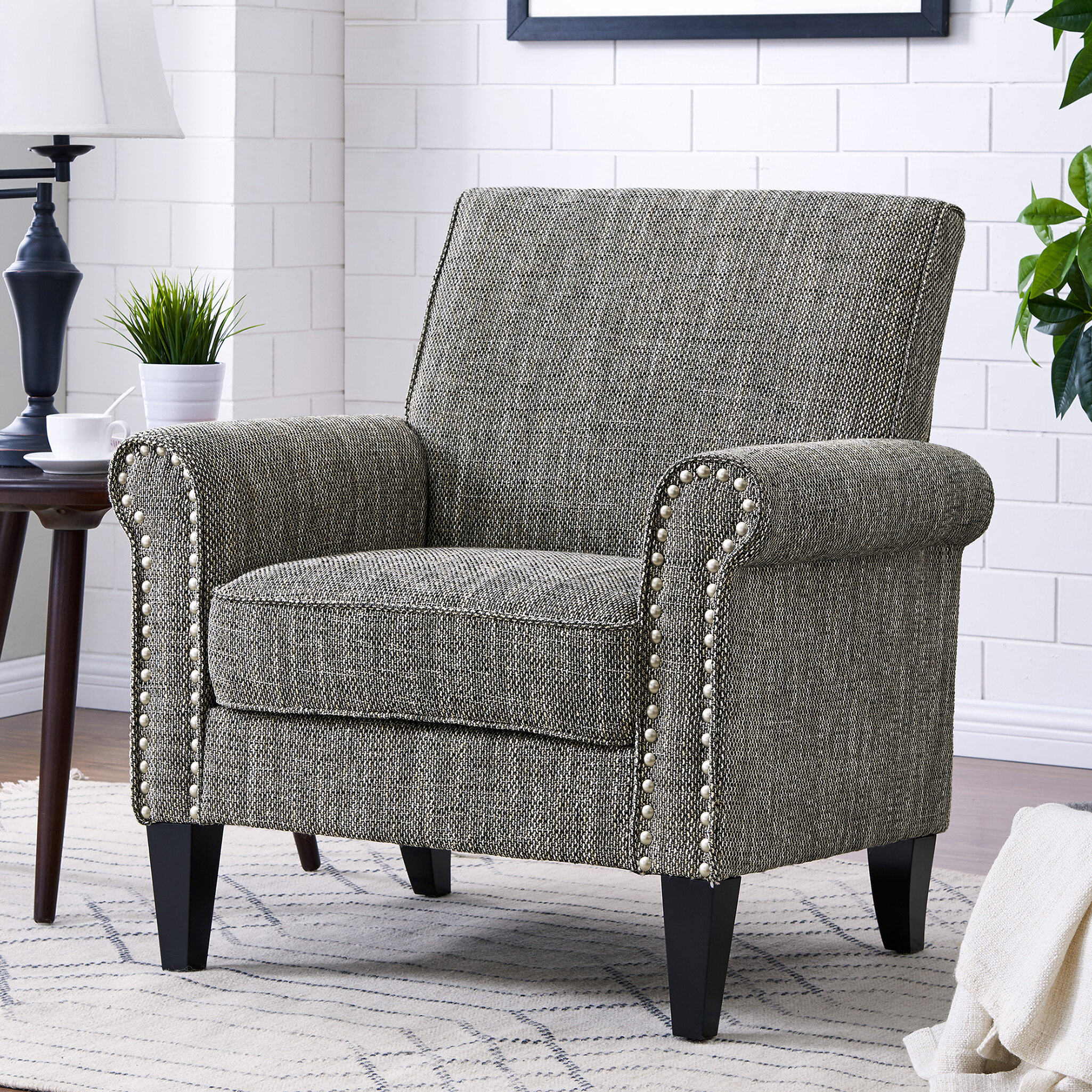 White Accent Chairs You'Ll Love In 2021 | Wayfair Intended For Pitts Armchairs (View 8 of 15)