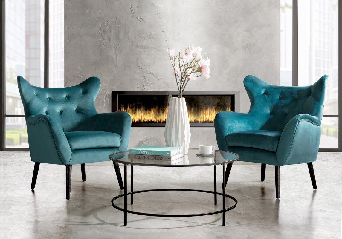 Willa Arlo Interiors Bouck Wingback Chair & Reviews Intended For Bouck Wingback Chairs (View 7 of 15)
