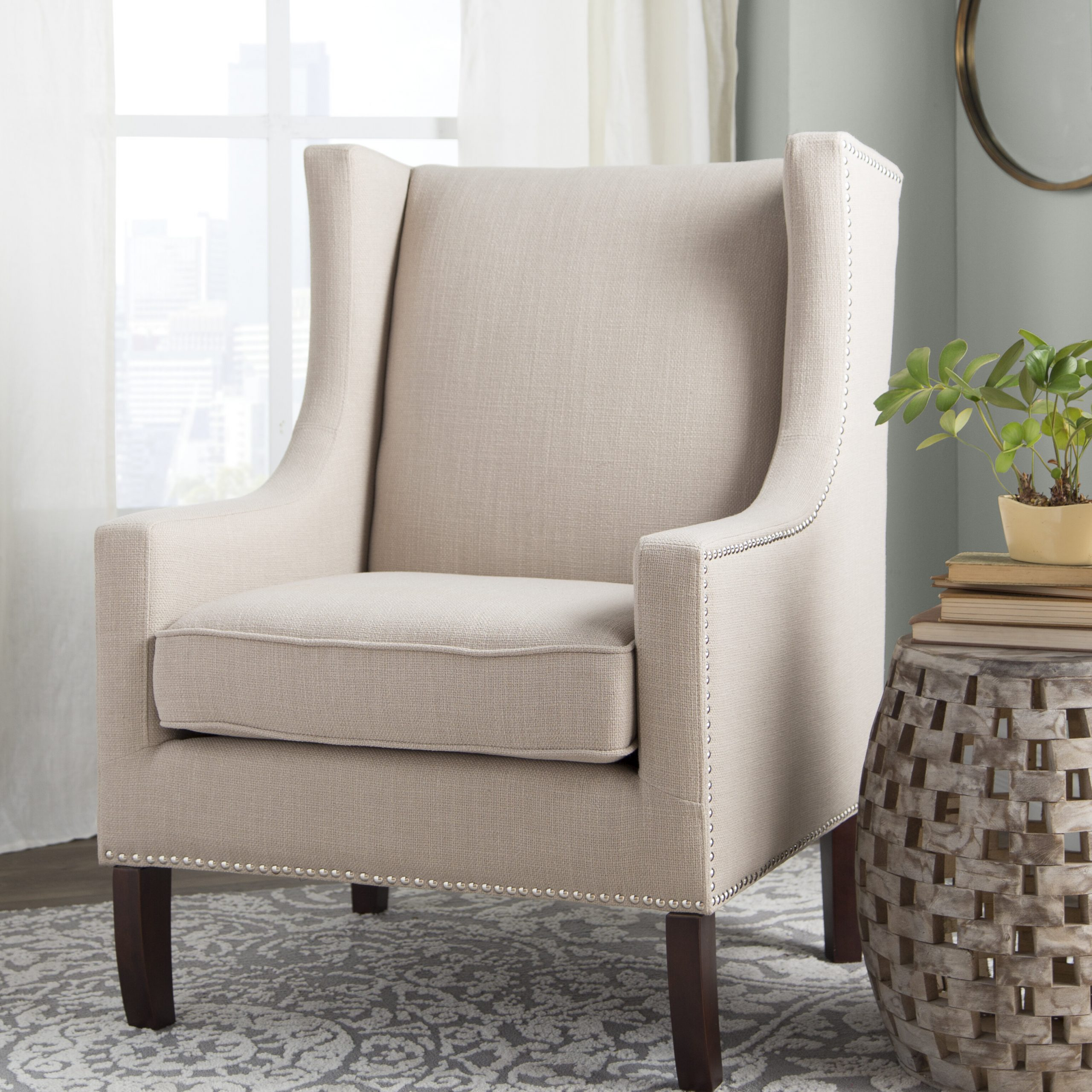 Wingback Accent Chairs You'Ll Love In 2021 | Wayfair Intended For Marisa Faux Leather Wingback Chairs (View 13 of 15)