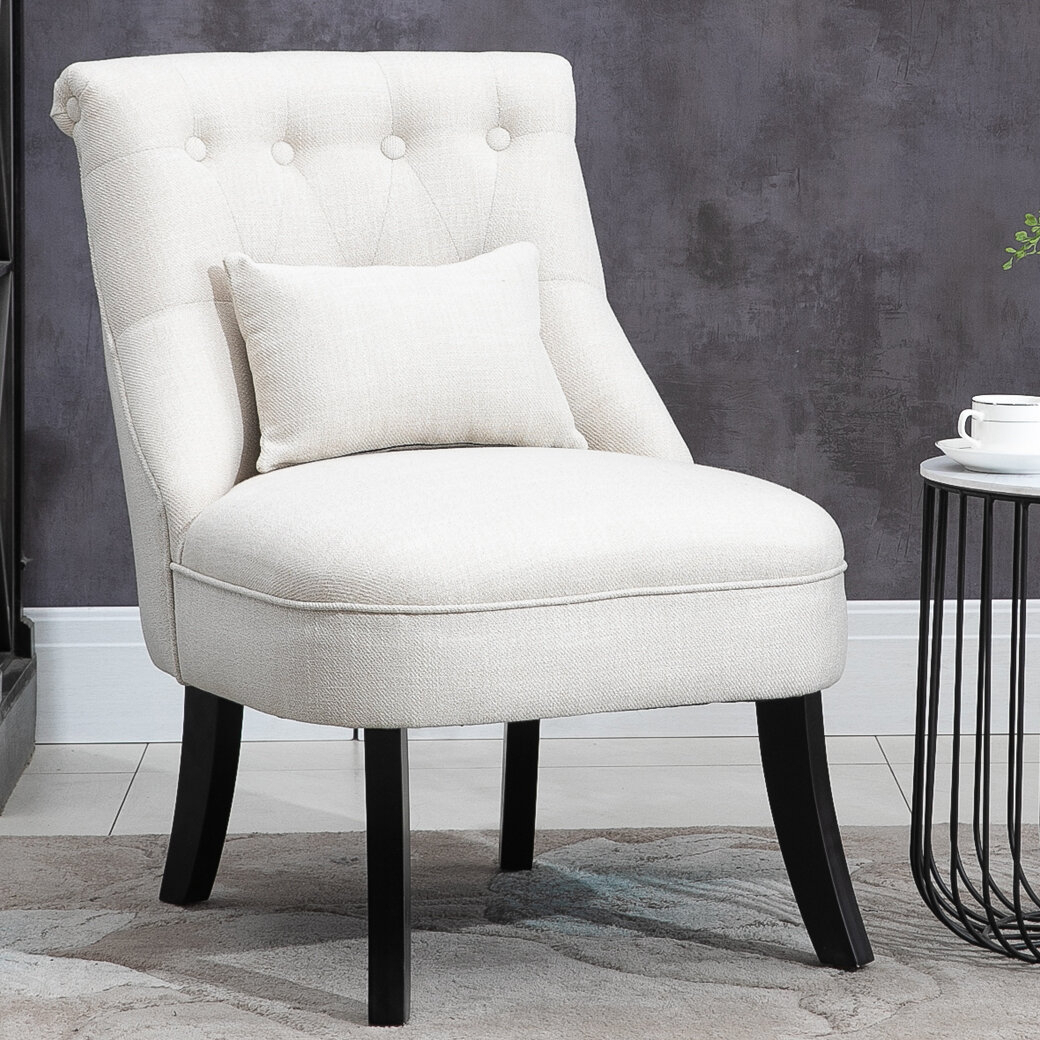 Winter Upholstered Fabric Side Chair Pertaining To Chiles Linen Side Chairs (View 8 of 15)