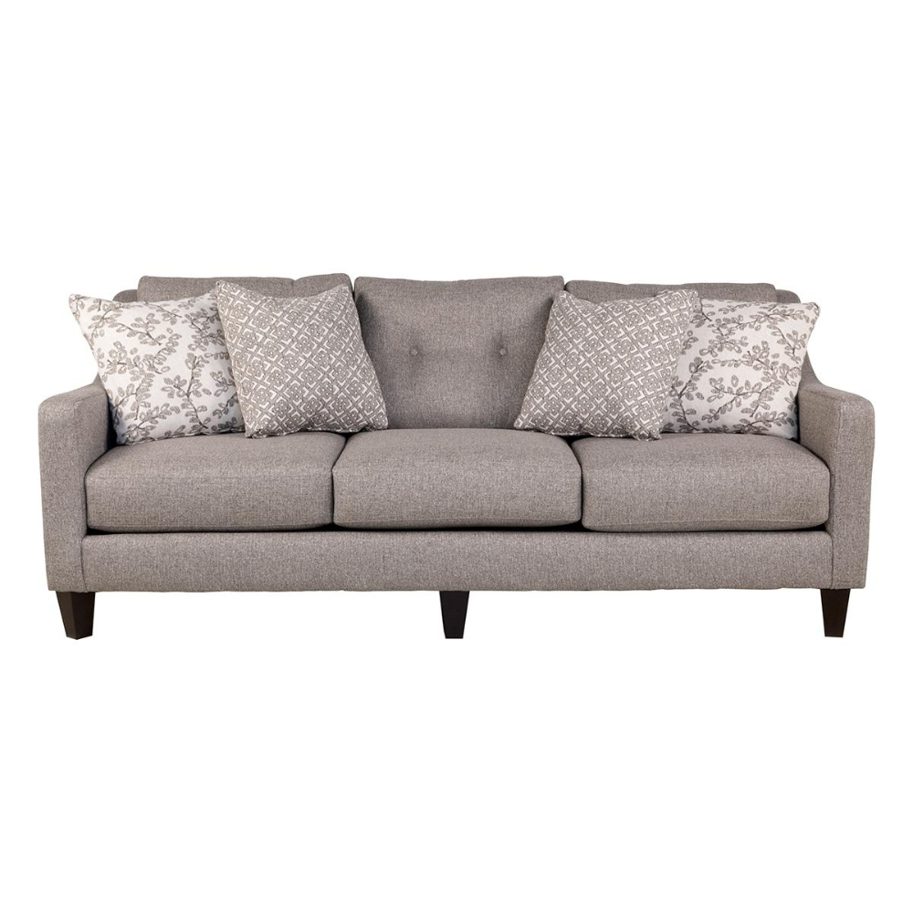 Xenia Sofa In Evenings Stone | Nebraska Furniture Mart In Within Starks Tufted Fabric Chesterfield Chair And Ottoman Sets (View 13 of 15)