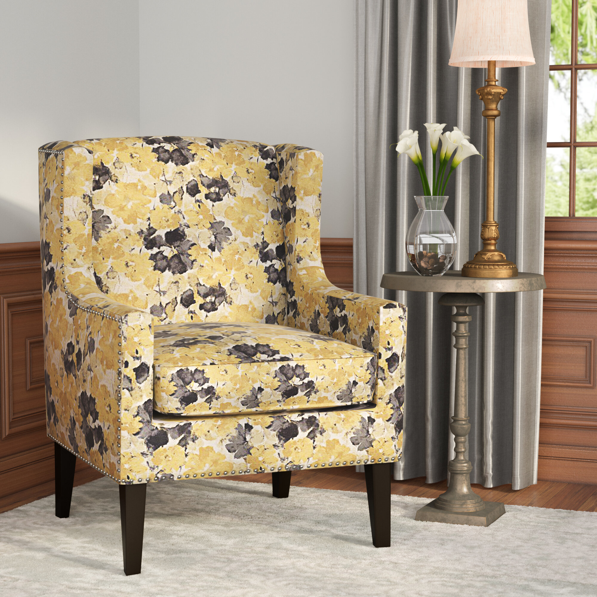 Yellow Charlton Home® Accent Chairs You'Ll Love In 2021 Throughout Chagnon Wingback Chairs (View 10 of 15)