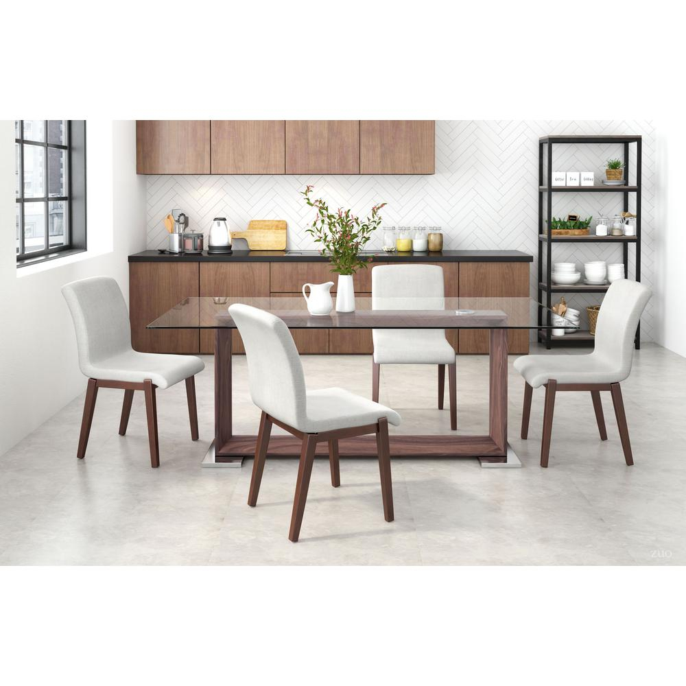 Zuo Hamilton Beige Dining Chair (Set Of 2) 100718 – The Home Depot With Regard To Esmund Side Chairs (Set Of 2) (View 15 of 15)