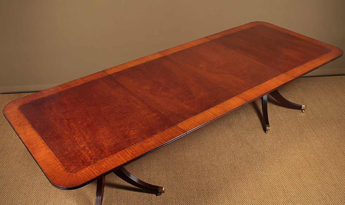 10' Long Mahogany Twin Pedestal Dining Table (View 11 of 15)