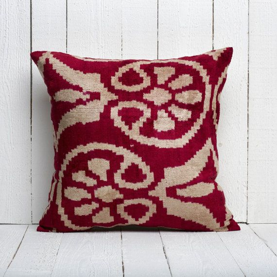 20X20 Uzbek Hand Woven Ikat Pillow Cover In Silk Intended For Most Up To Date Hunsicker Dining Tables (View 7 of 15)