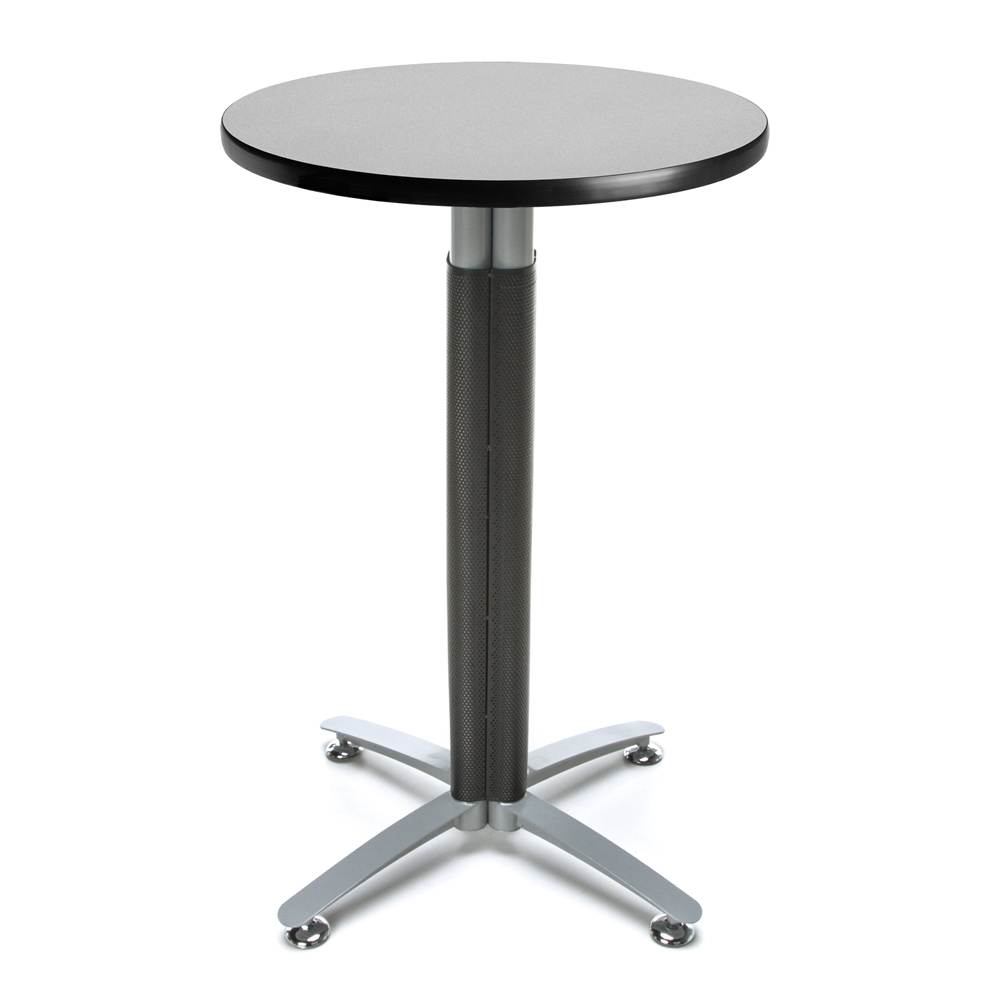 """24"""" Round Metal Mesh Base Cafe Table With Regard To Most Current Bentham 47"""" L Round Stone Breakroom Tables (View 14 of 15)"""