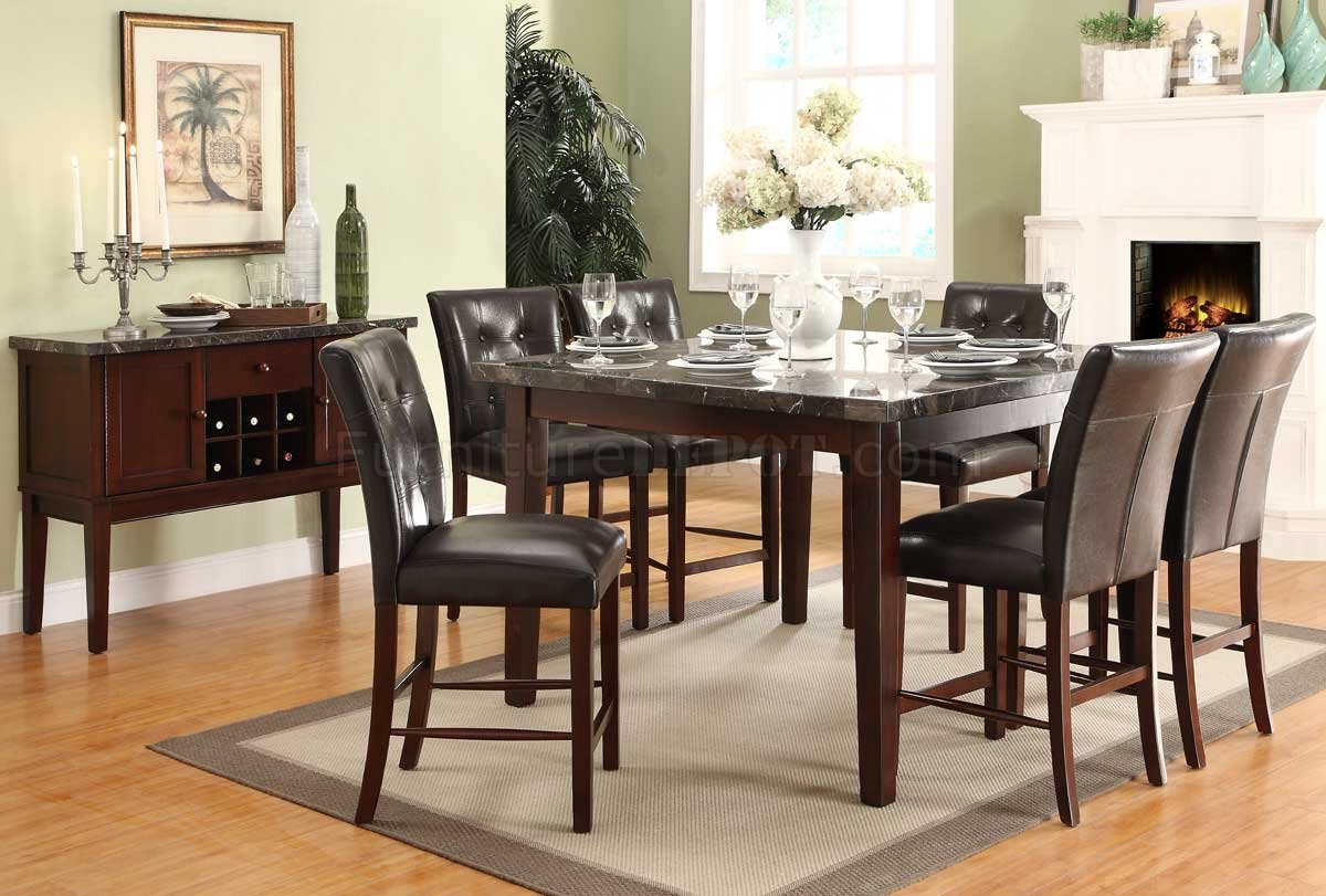 2456 36 Decatur Counter Height Dining Tablehomelegance For Current Dankrad Bar Height Dining Tables (View 6 of 15)