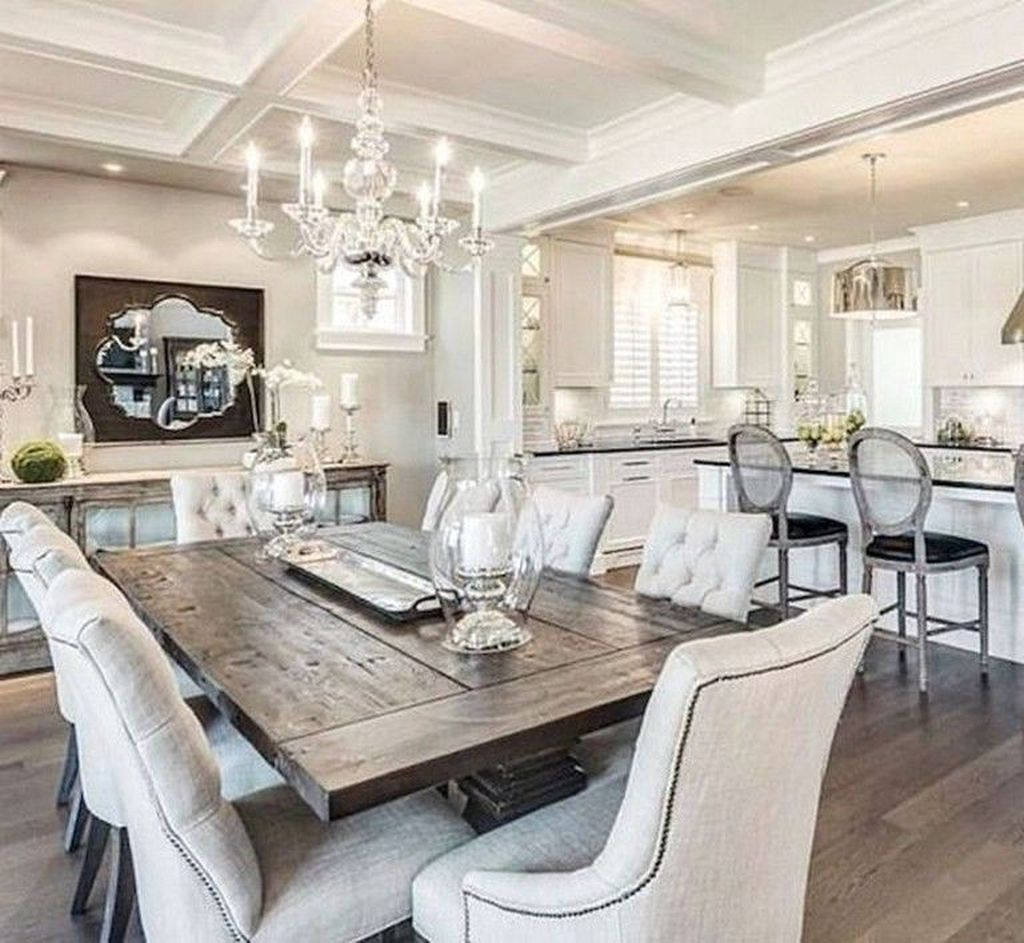 30+ Relaxing Farmhouse Dining Room Design Ideas To Try With Regard To Most Popular Lewin Dining Tables (View 13 of 15)