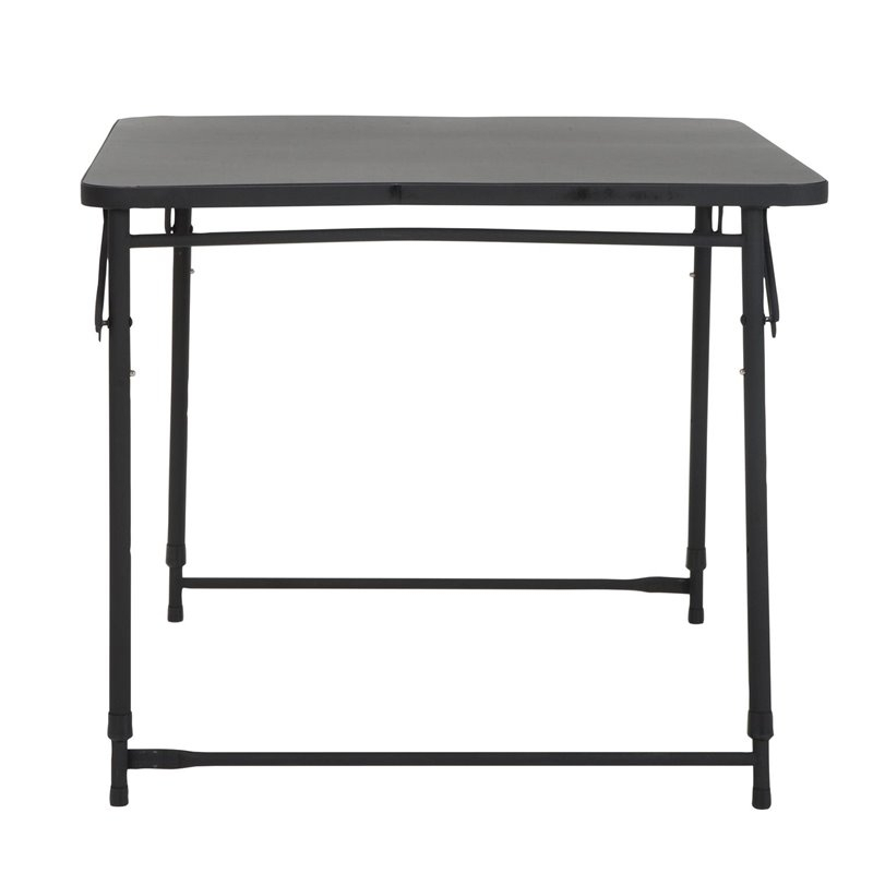 """34'' Square Height Adjustable Folding Table In Black Inside Current Dionara 56"""" L Breakroom Tables (View 10 of 15)"""
